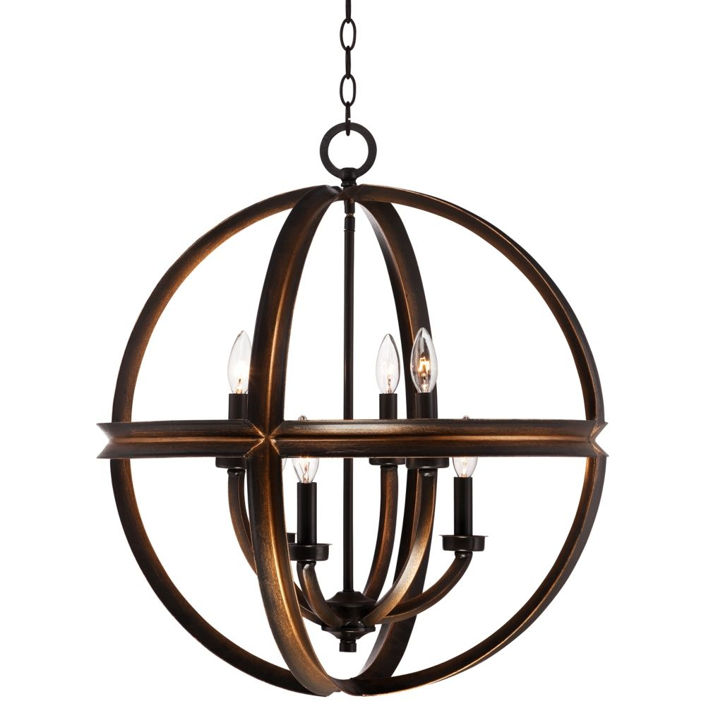 "Millington 23 1/2"" Wide Bronze Pendant Light – Style # 5x576 In La Sarre 3 Light Globe Chandeliers (View 17 of 30)"