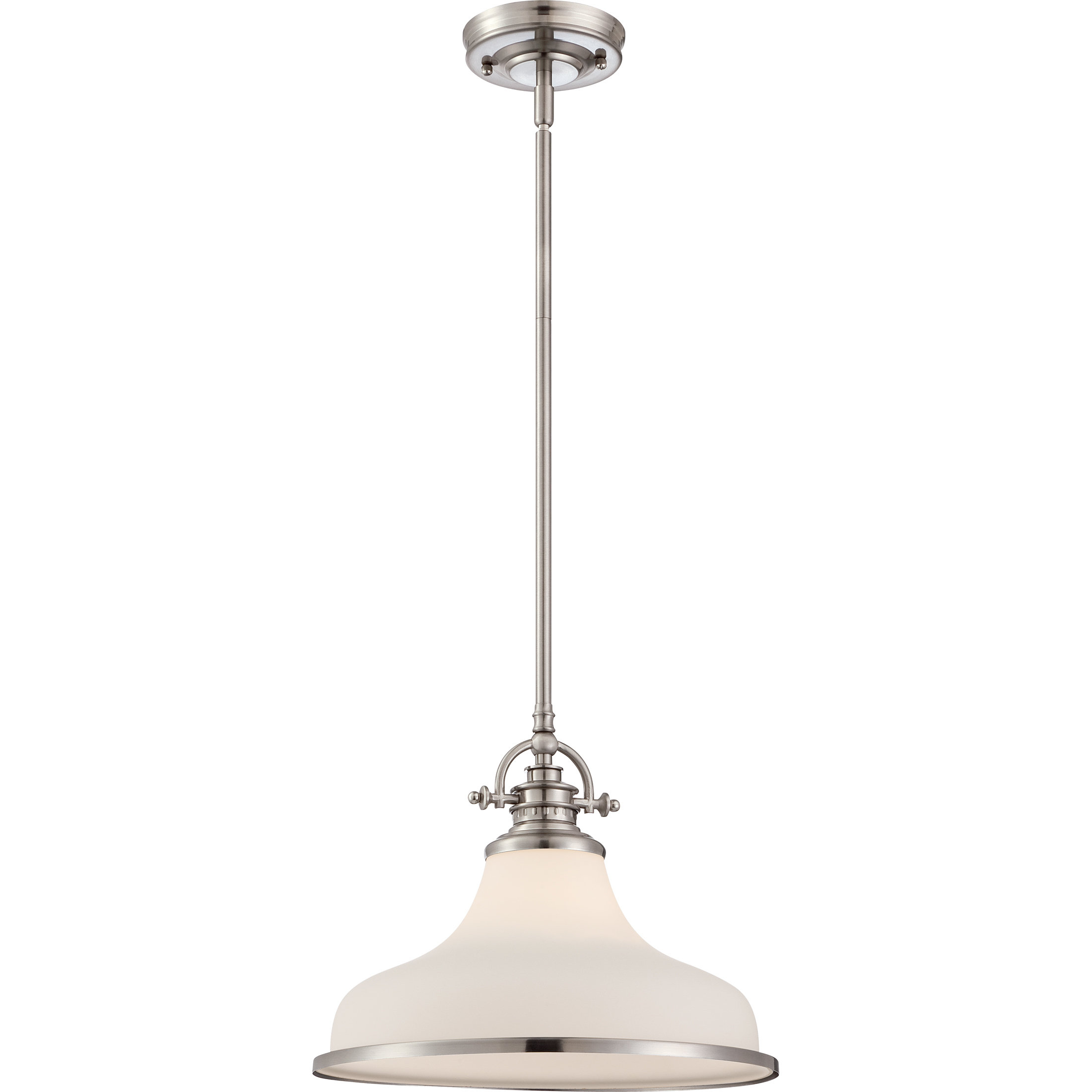 Miltiades 1-Light Single Dome Pendant with regard to Mueller 1-Light Single Dome Pendants (Image 18 of 30)