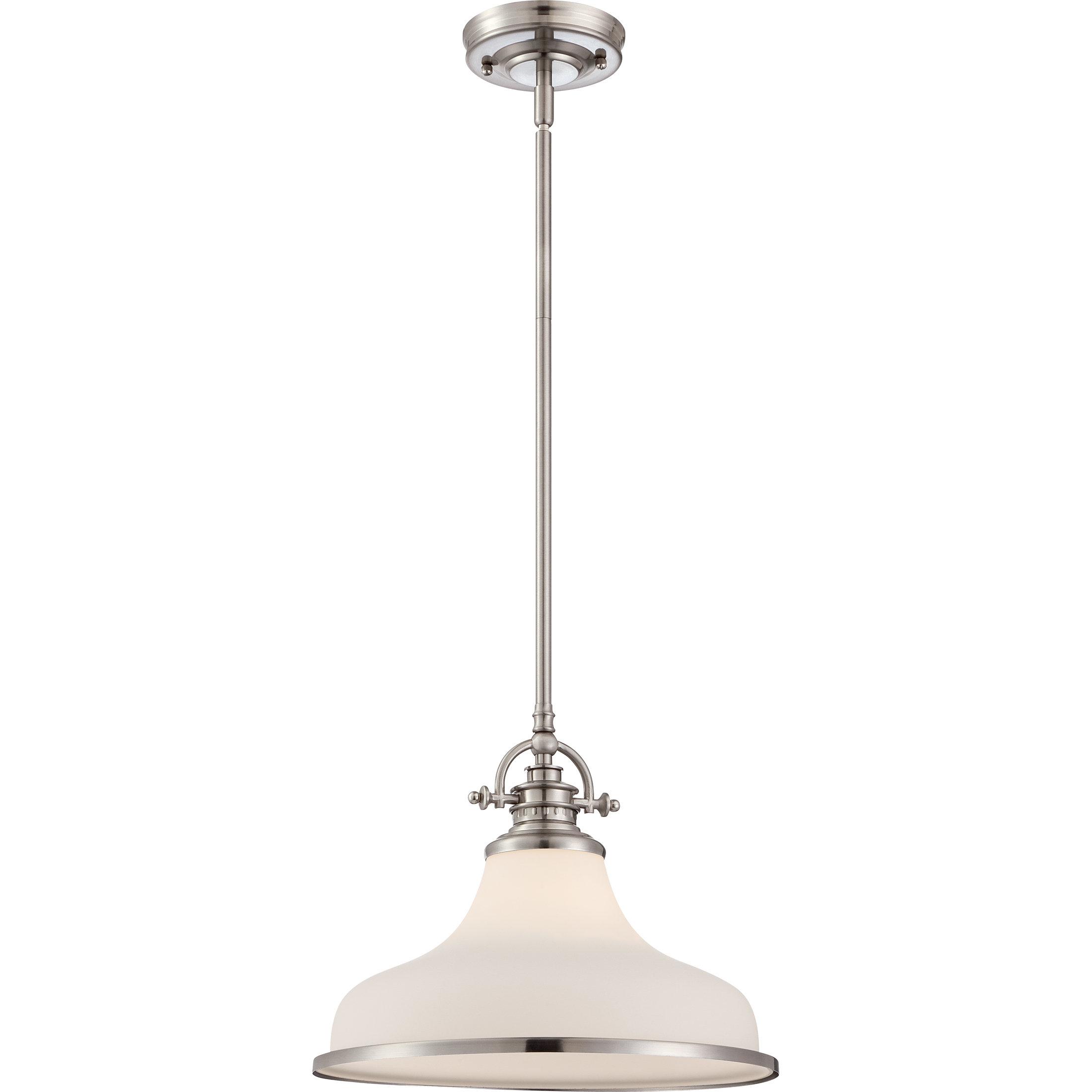 Miltiades 1 Light Single Dome Pendant With Regard To Mueller 1 Light Single Dome Pendants (View 18 of 30)