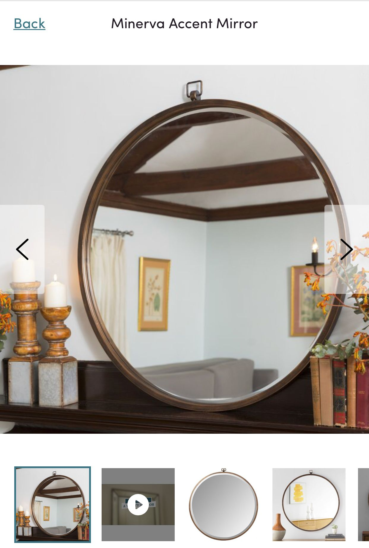 Minerva Accent Mirror In 2019 | Home Decor | Mirror, Round within Minerva Accent Mirrors (Image 17 of 30)