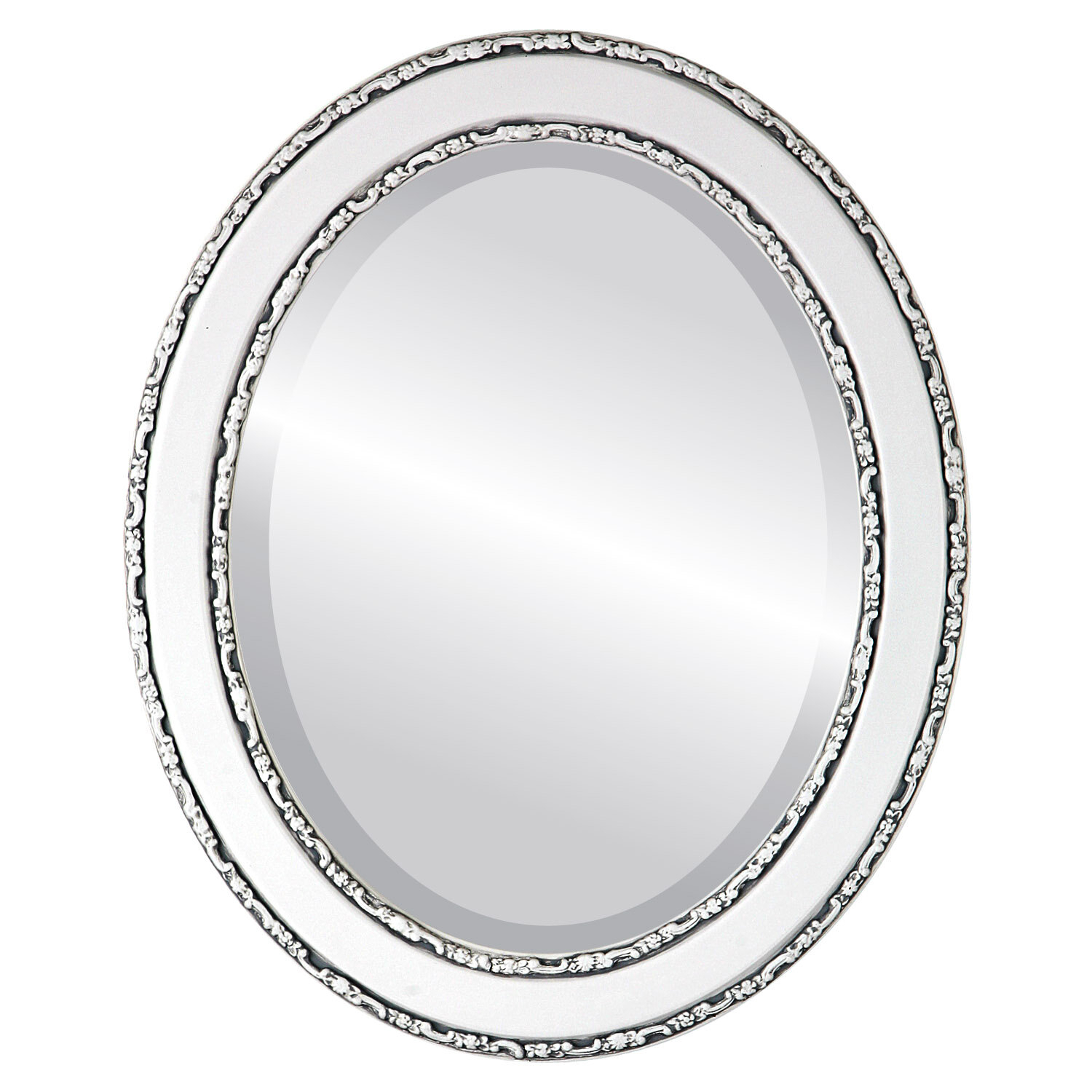 Minerva Oval Traditional Beveled Accent Mirror pertaining to Minerva Accent Mirrors (Image 23 of 30)