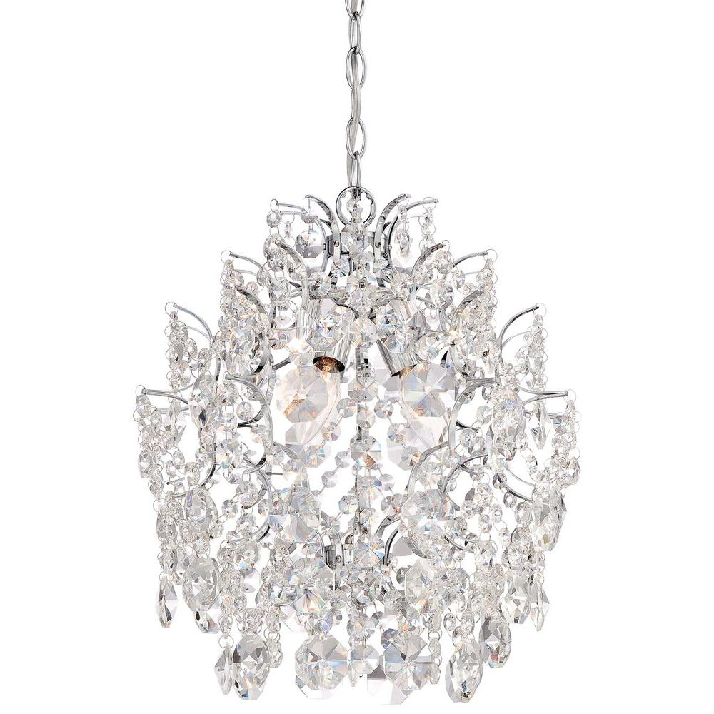 Minka Lavery 3 Light Chrome Mini Chandelier Regarding Clea 3 Light Crystal Chandeliers (View 2 of 30)