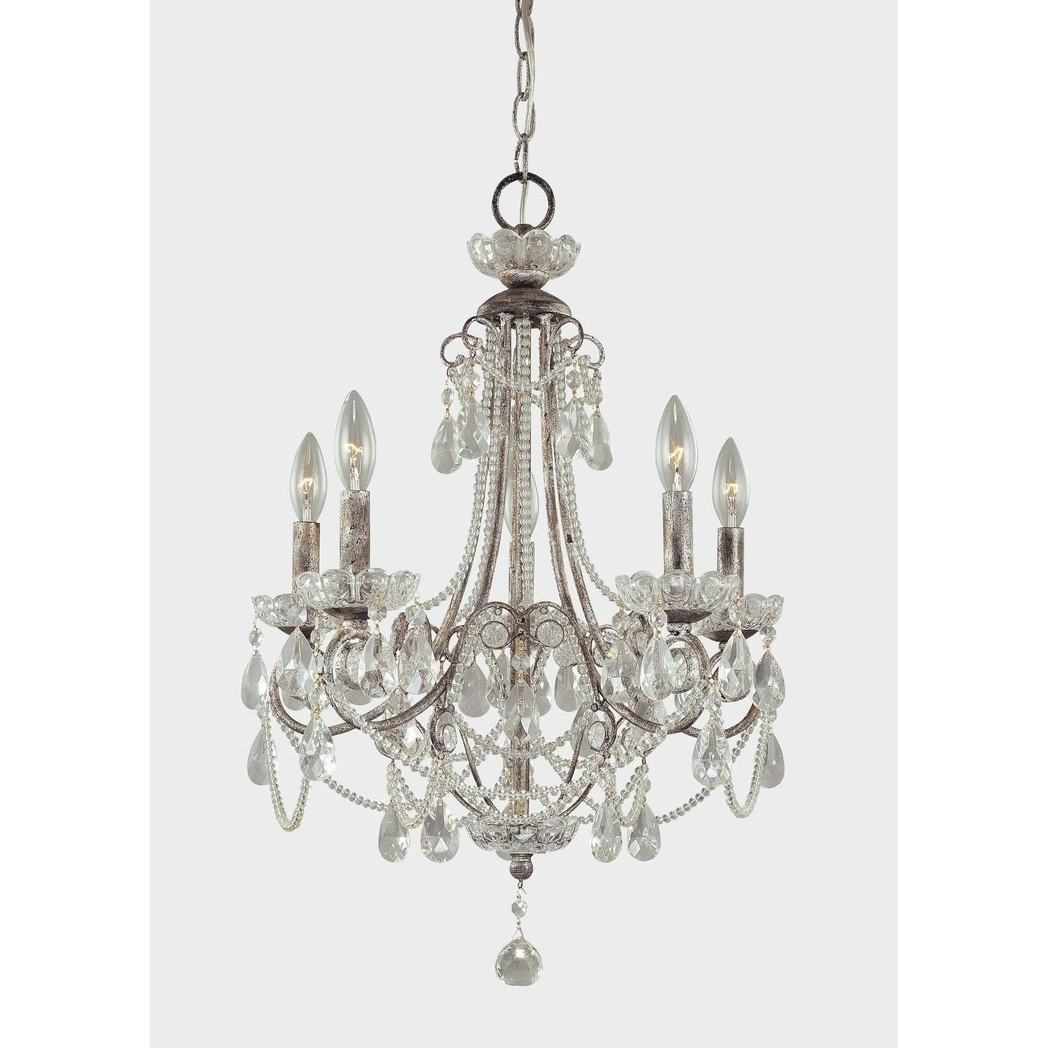Minka Lavery 5 Light Mini Chandelier In 2019 | Products For Oriana 4 Light Single Geometric Chandeliers (View 22 of 30)