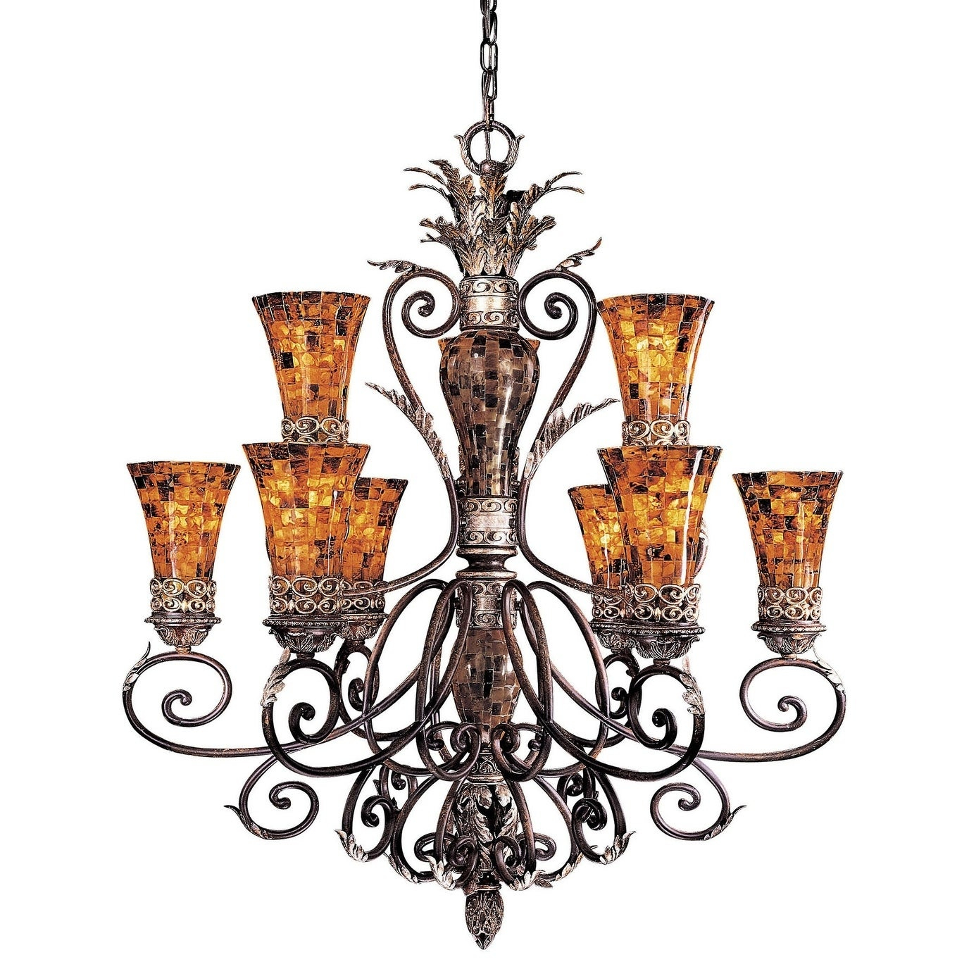 Minka Metropolitan Salamanca 9 Light Chandelier with Asher 12-Light Sputnik Chandeliers (Image 21 of 30)
