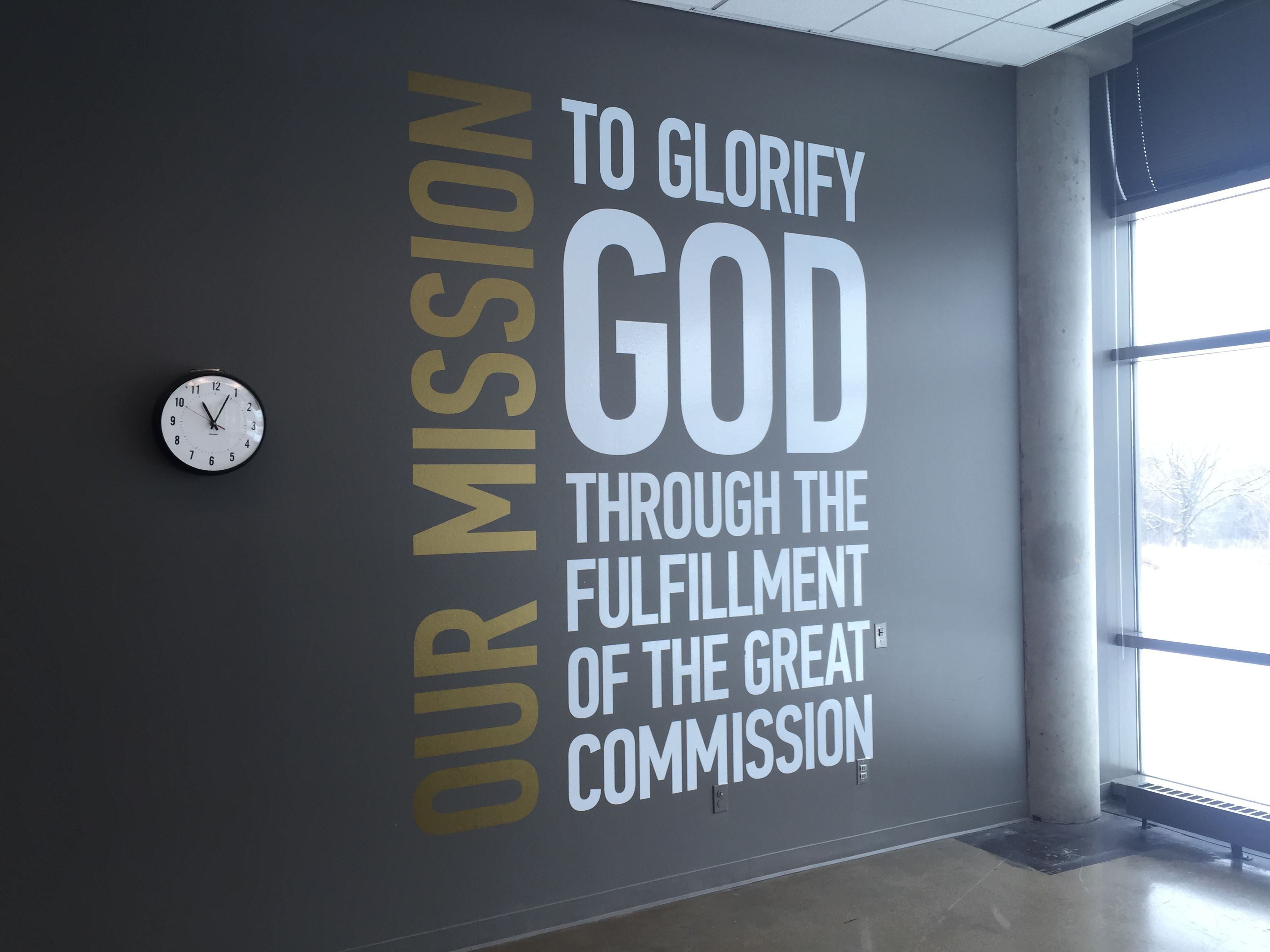 "Mission Statement Wall - Google Search | Signs | Church for In-a-Word ""welcome"" Wall Decor by Fireside Home (Image 16 of 30)"