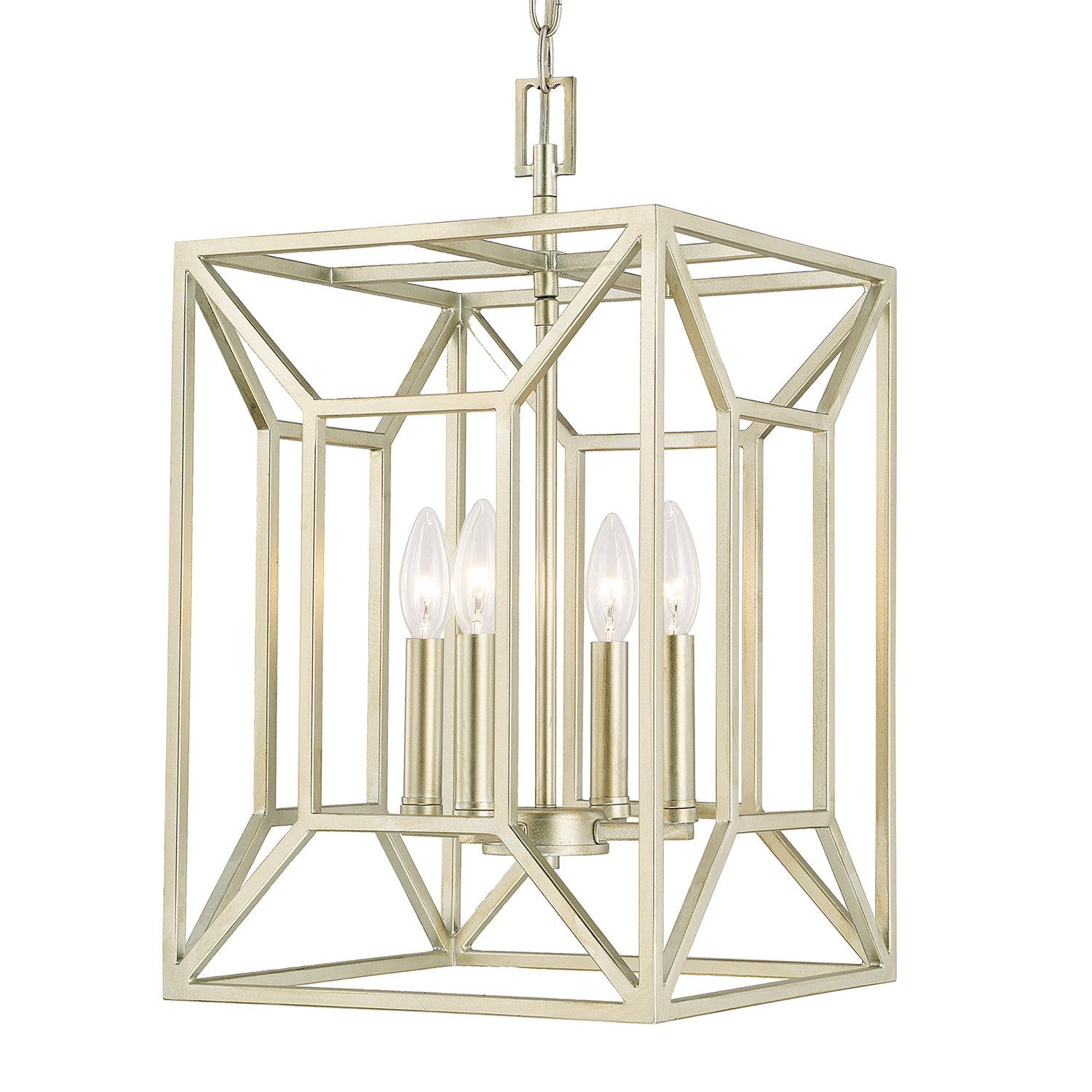 Missy 4 Light Single Square Pendant With Regard To William 4 Light Lantern Square / Rectangle Pendants (View 17 of 30)