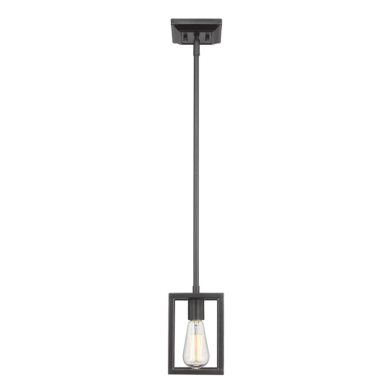 Mizer 1 Light Square/rectangle Pendant Intended For Callington 1 Light Led Single Geometric Pendants (View 22 of 30)