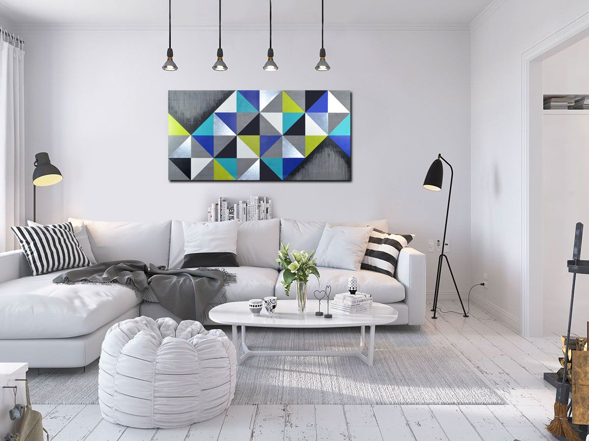 Mod Cubism 48X24"