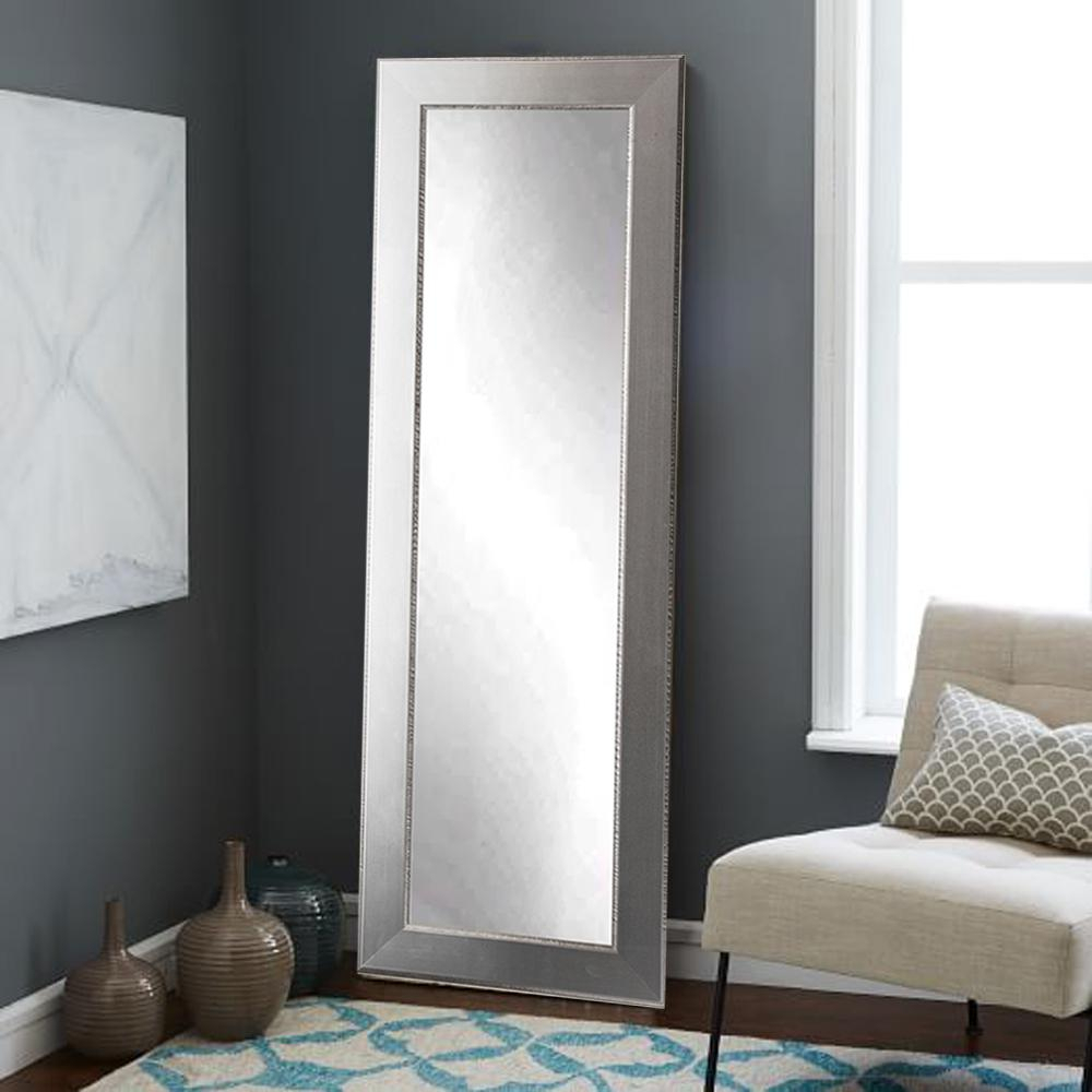 Mod Euro Silver Full Length Framed Mirror | Mirrors | Floor In Industrial Full Length Mirrors (View 22 of 30)