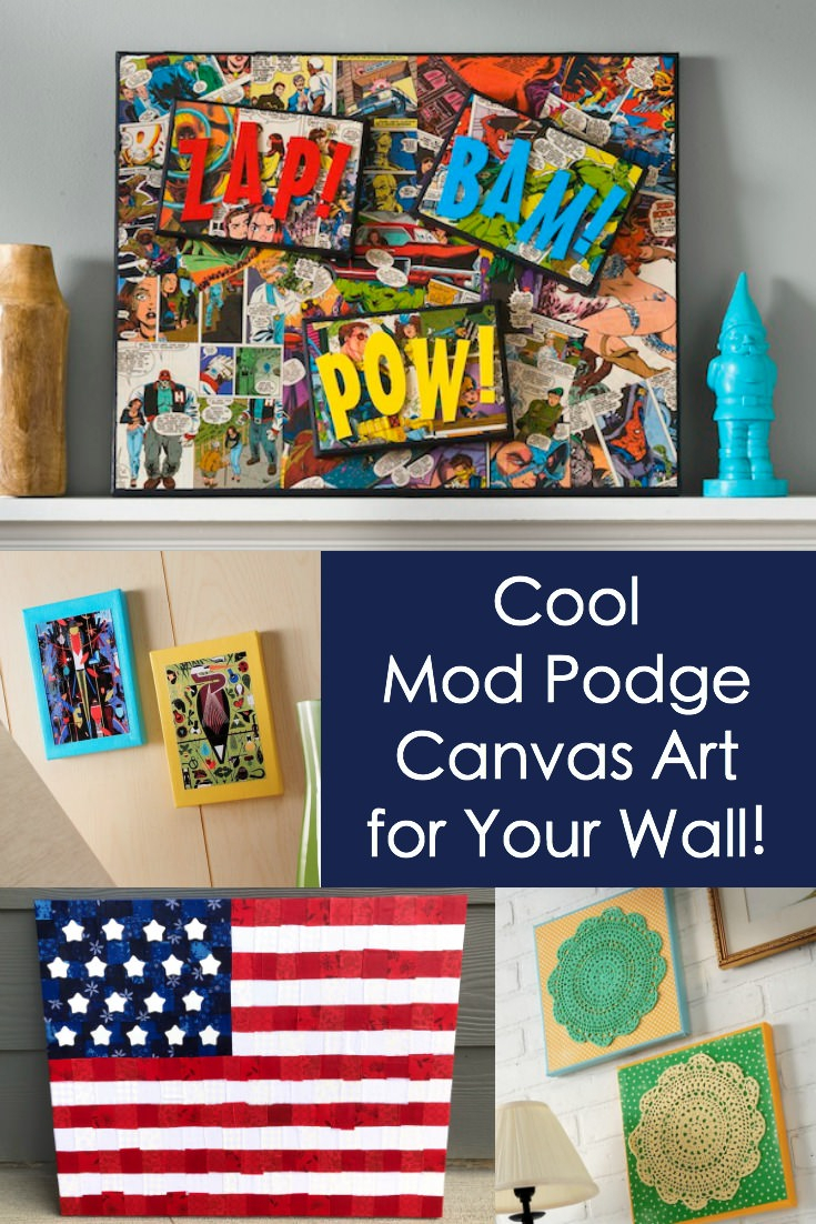 """Mod Podge Canvas Art Ideas For Your Wall - Mod Podge Rocks regarding In-A-Word """"welcome"""" Wall Decor (Image 18 of 30)"""