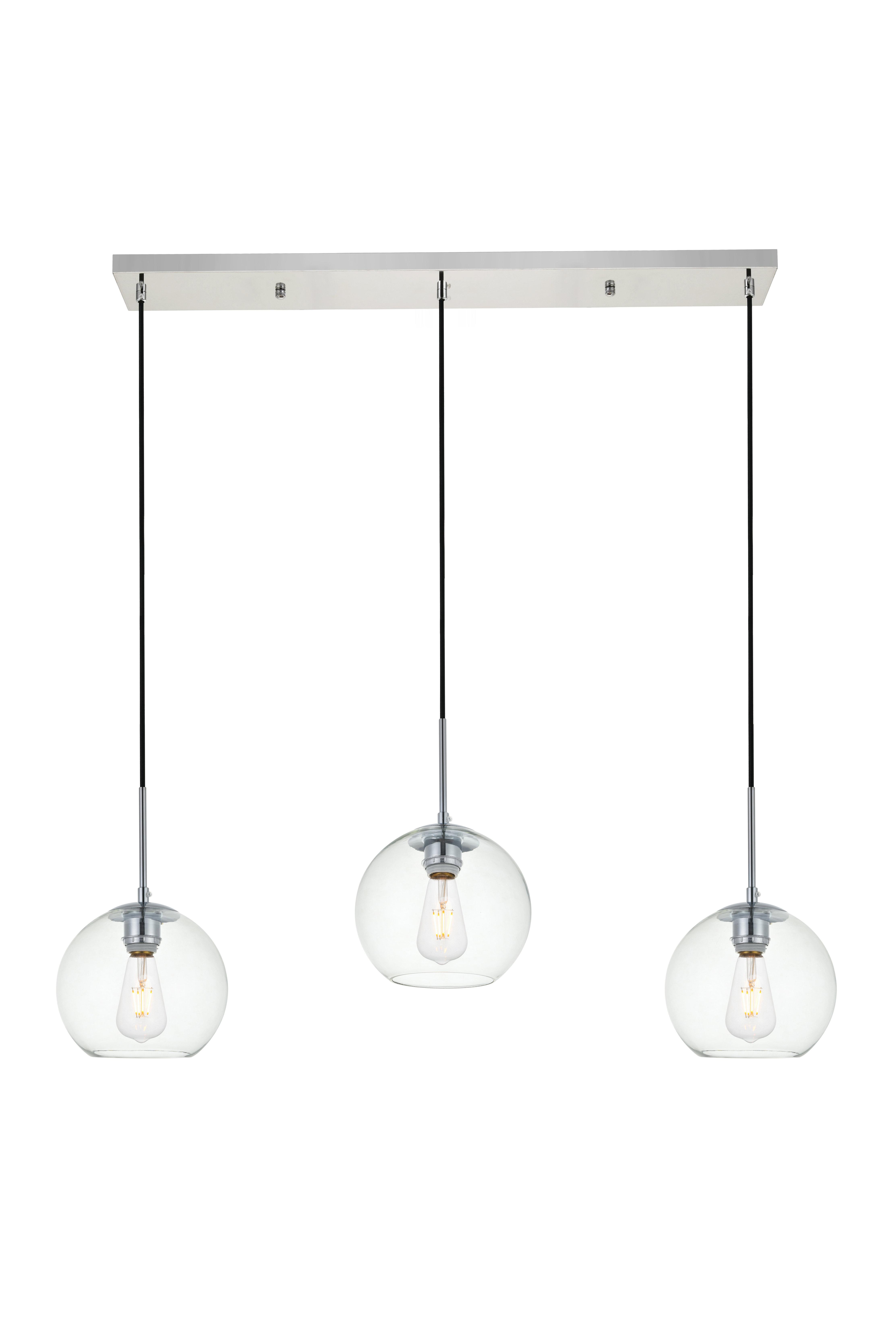 Modern 3 Light Cluster Pendant Lighting | Allmodern with Berenice 3-Light Cluster Teardrop Pendants (Image 15 of 30)