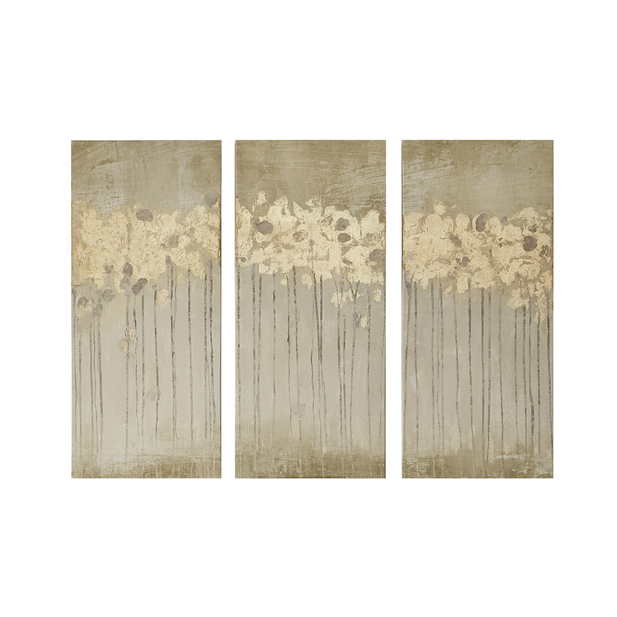 Modern Abstract Wall Art | Allmodern Inside 3 Piece Wash, Brush, Comb Wall Decor Sets (set Of 3) (View 22 of 30)