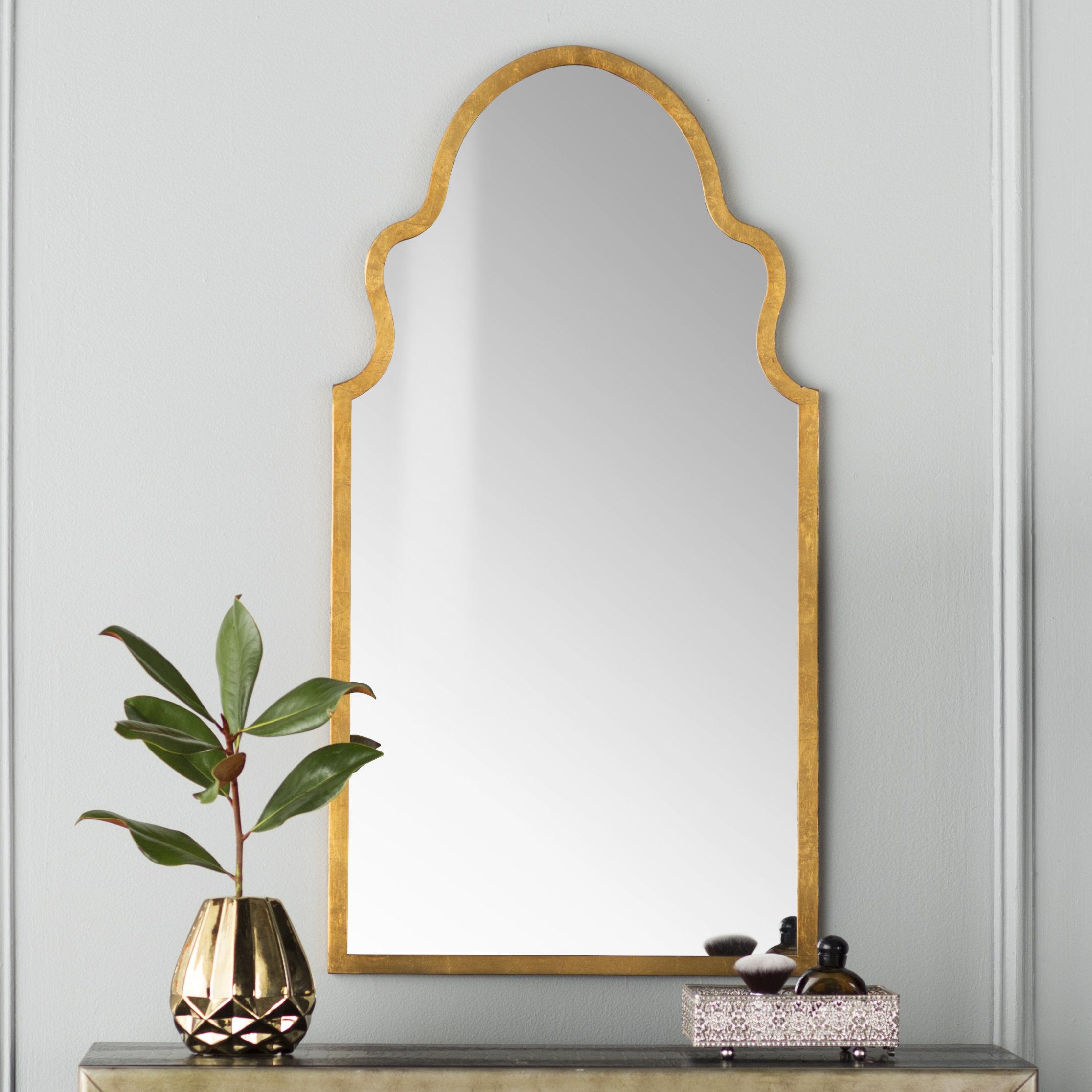 Modern Arch / Crowned Top Wall Mirrors | Allmodern Regarding Ekaterina Arch/crowned Top Wall Mirrors (View 16 of 30)
