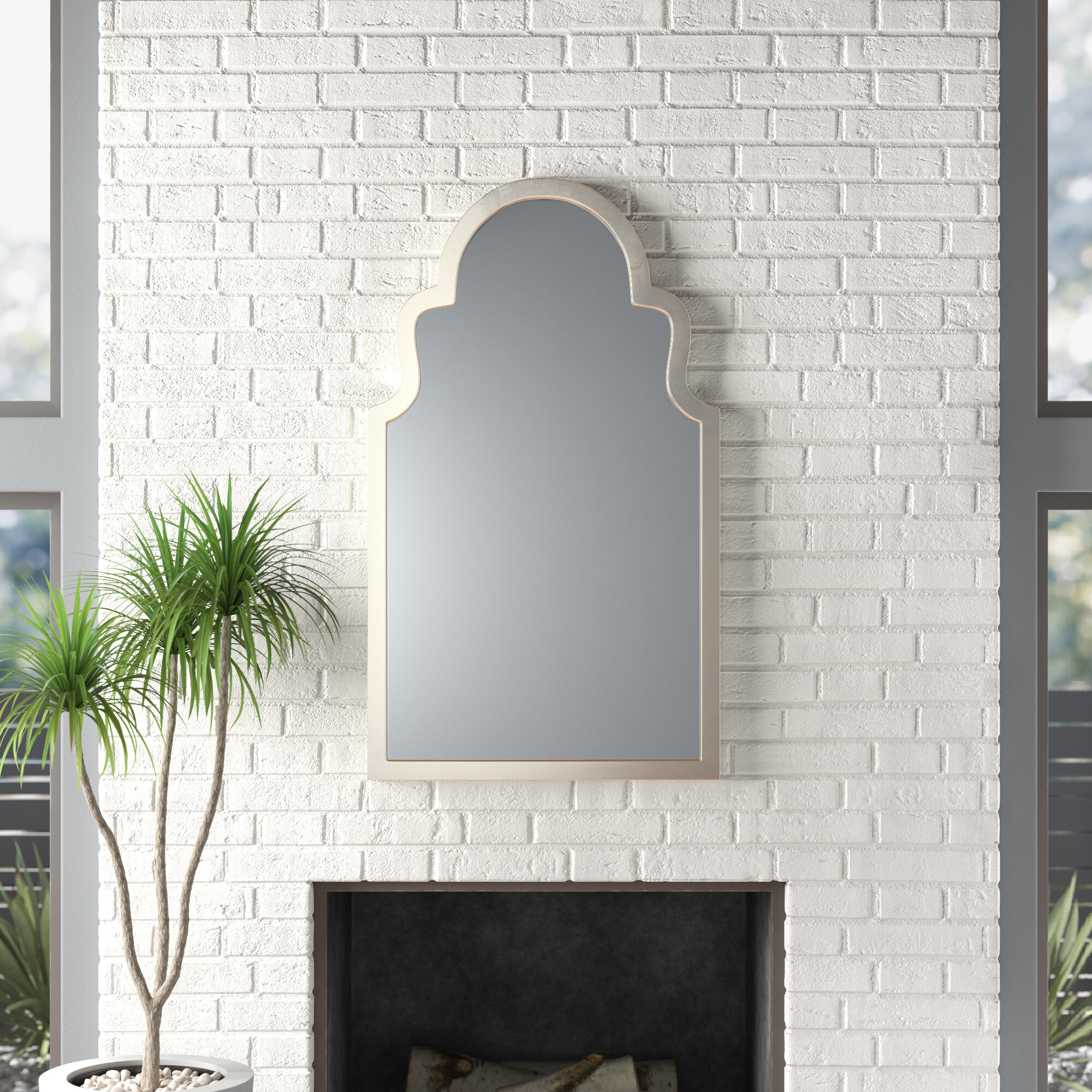 Modern Arch / Crowned Top Wall Mirrors | Allmodern Regarding Fifi Contemporary Arch Wall Mirrors (View 20 of 30)
