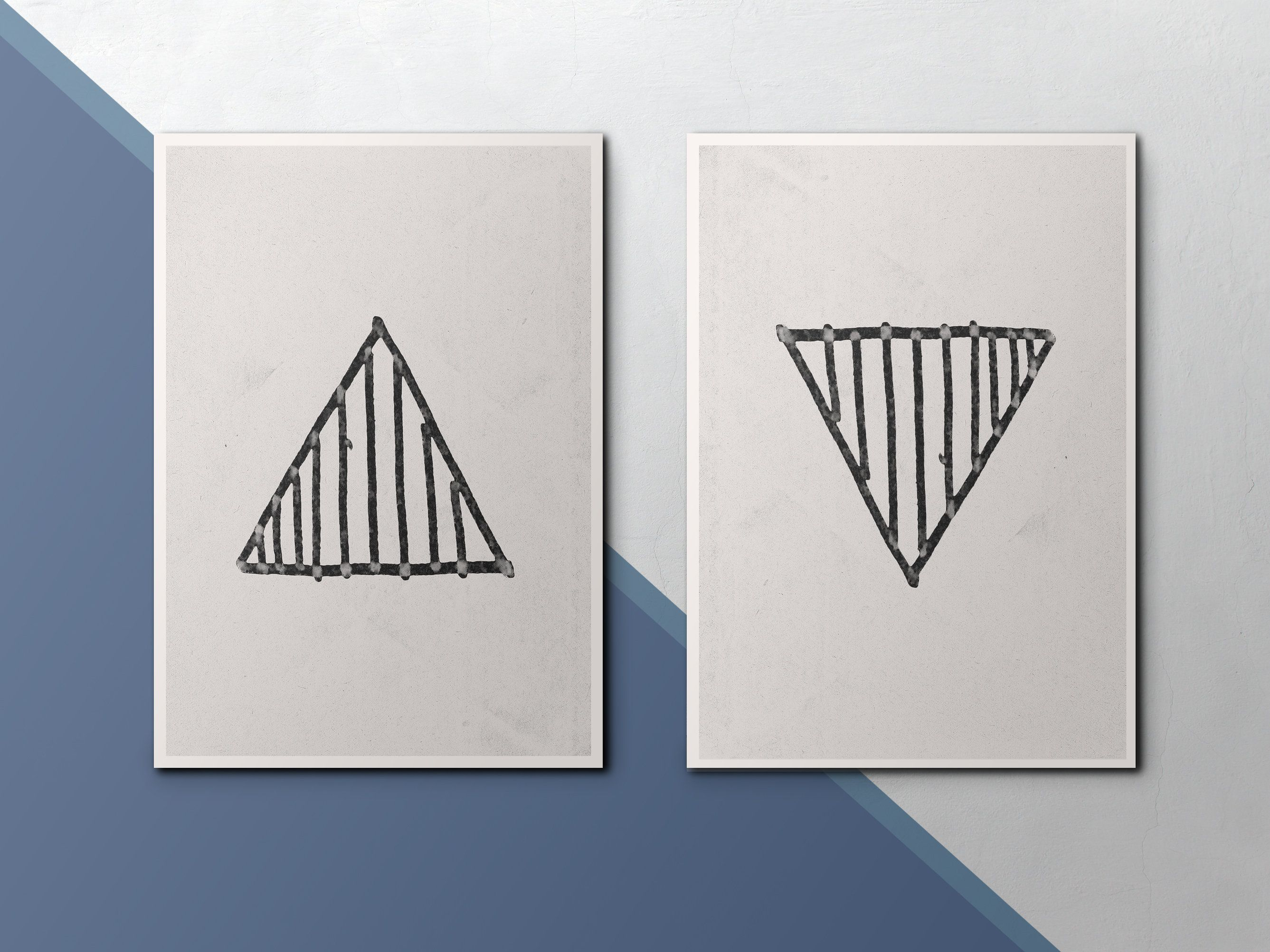 Modern Art Print Geometric Wall Art Black And White Triangle for Contemporary Geometric Wall Decor (Image 27 of 30)
