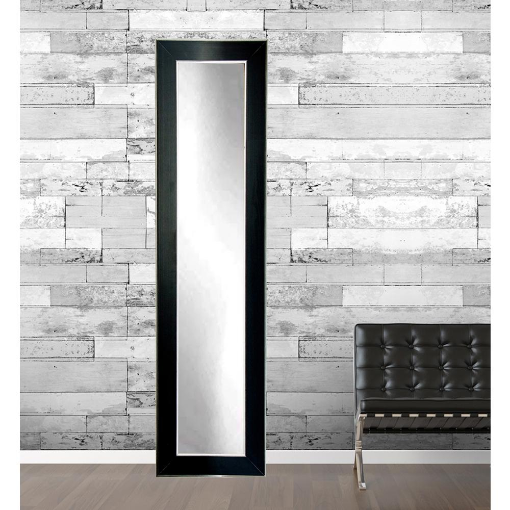 Modern Black With Silver Accent Full Length Framed Mirror Intended For Modern & Contemporary Full Length Mirrors (View 16 of 30)