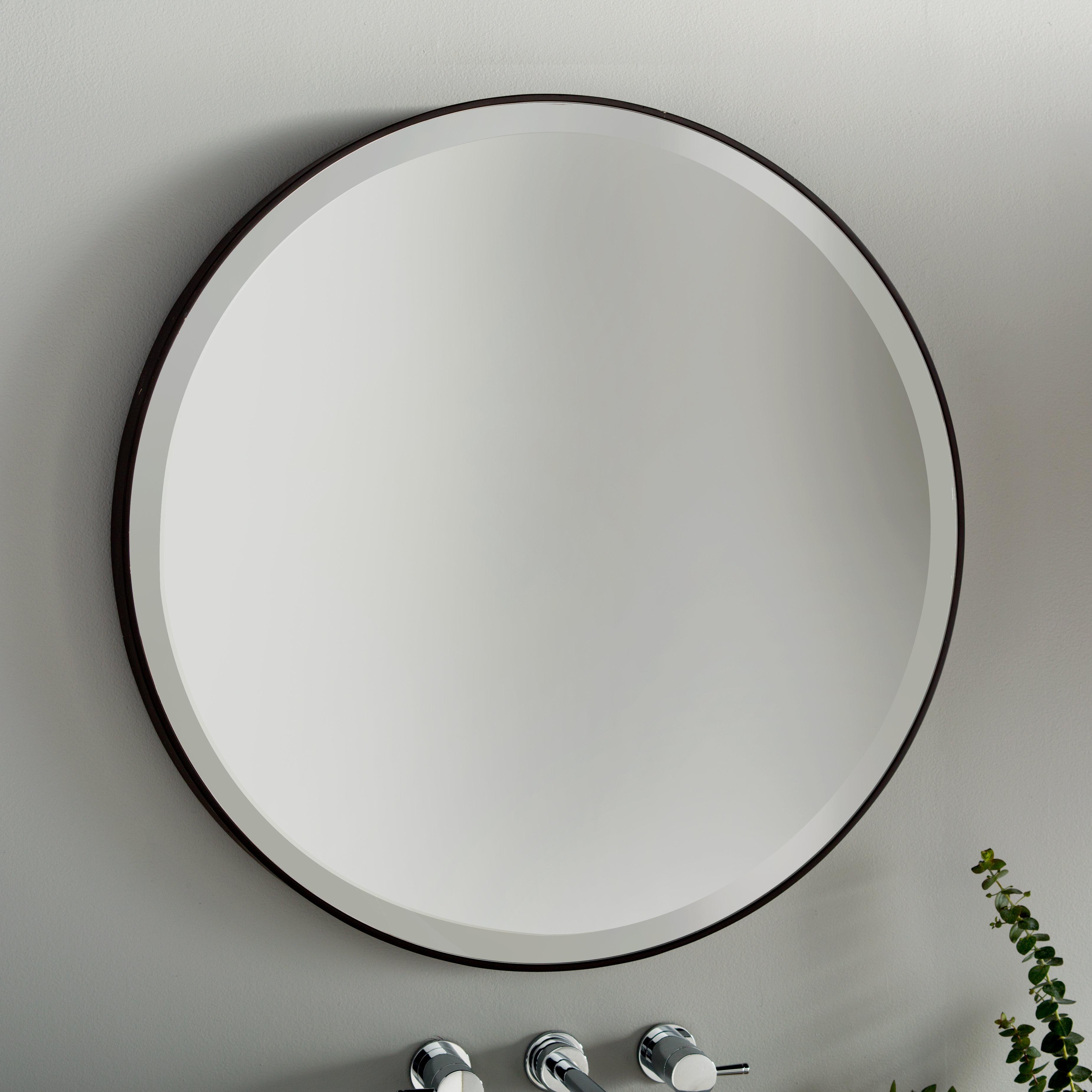 Modern Bronze Round Wall Mirrors | Allmodern Regarding Brynn Accent Mirrors (View 22 of 30)