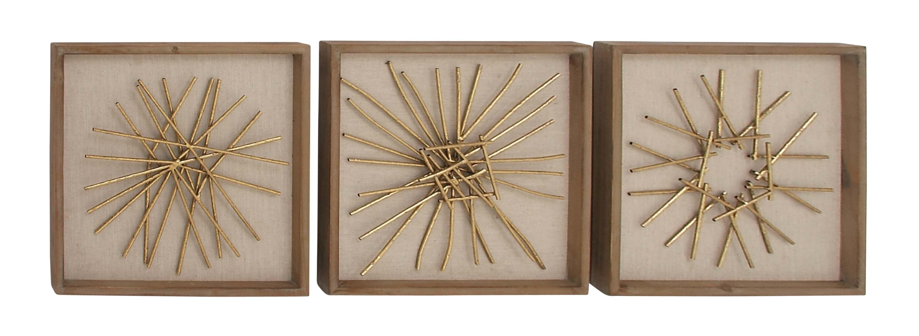 Modern & Contemporary 3 Piece Wall Decor Set | Allmodern regarding 2 Piece Starburst Wall Decor Sets (Image 24 of 30)
