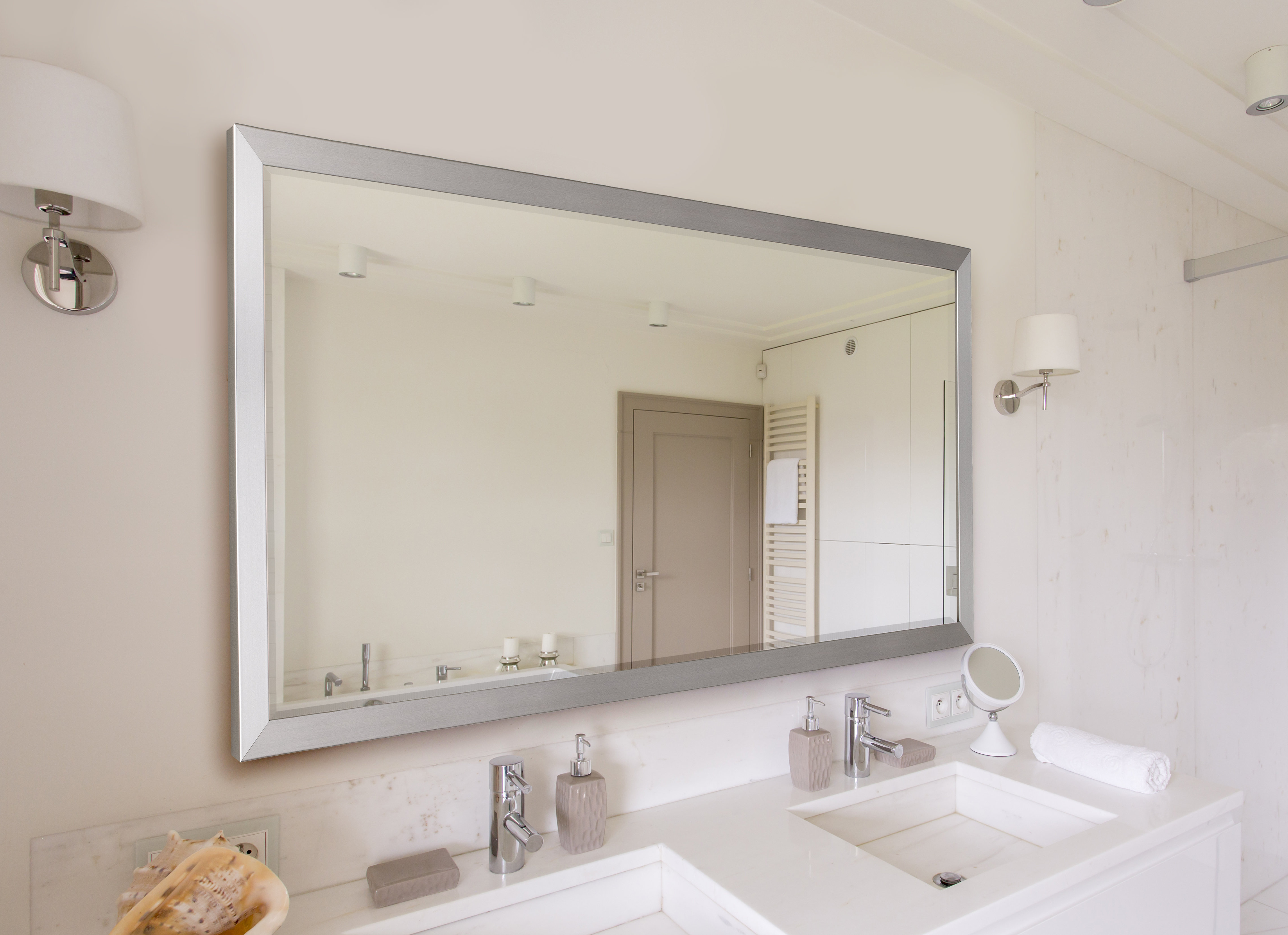 Modern & Contemporary Beveled Accent Mirror With Modern & Contemporary Beveled Accent Mirrors (View 24 of 30)
