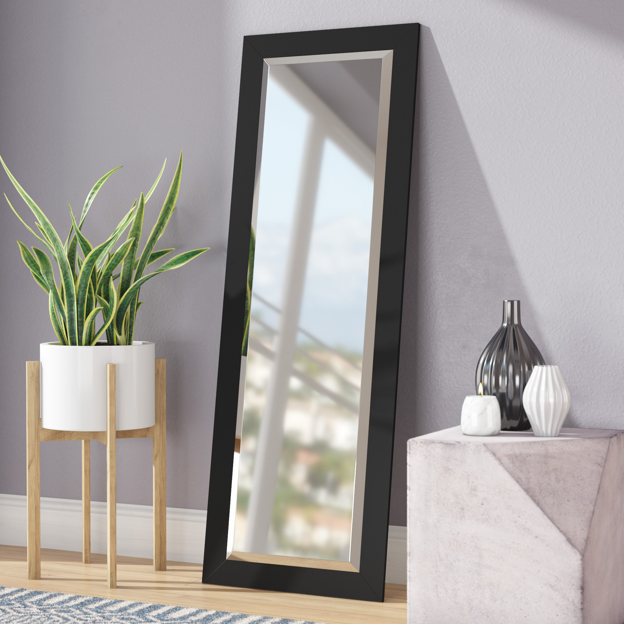 Modern & Contemporary Beveled Wall Mirror with Modern & Contemporary Beveled Wall Mirrors (Image 23 of 30)