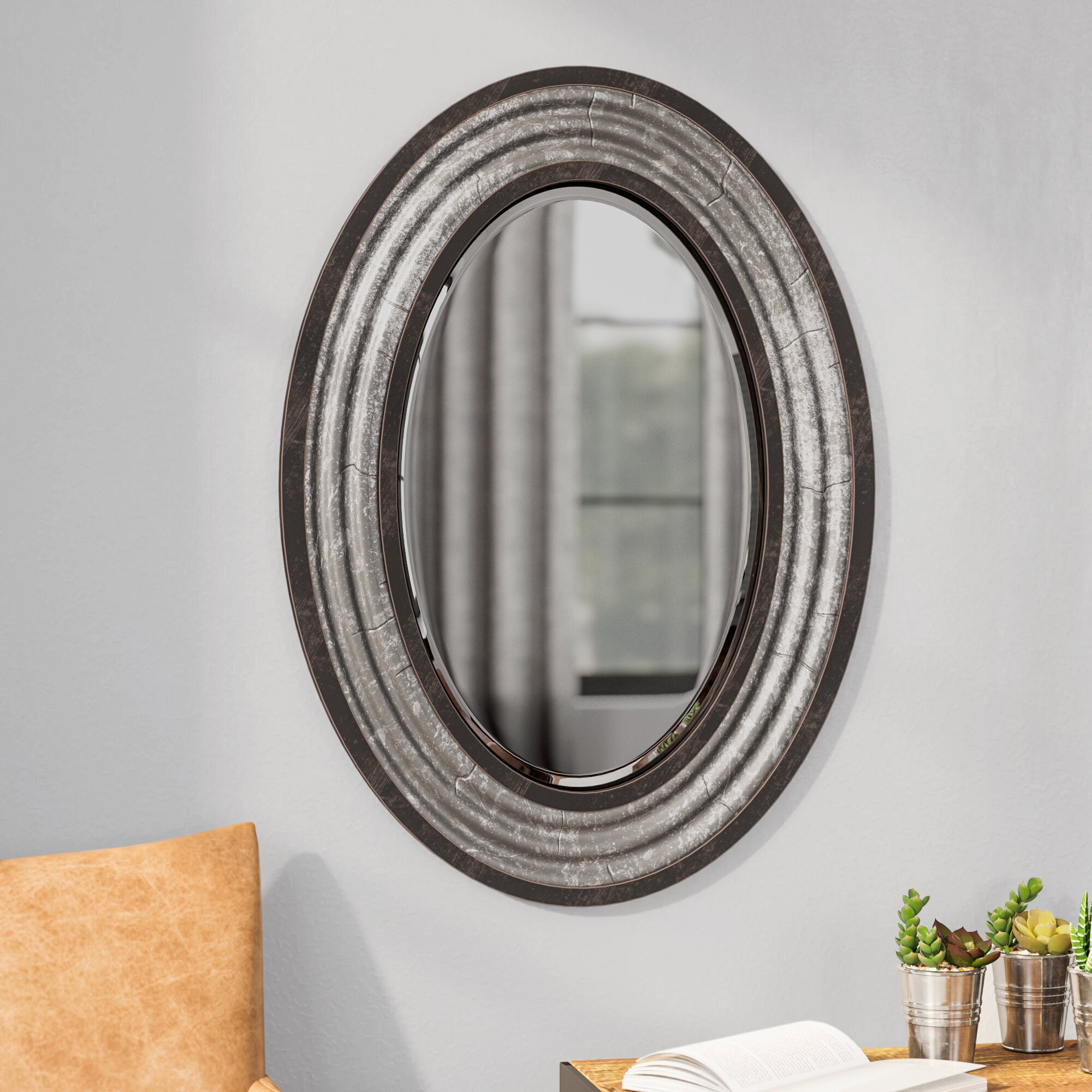 Modern & Contemporary Beveled Wall Mirror Within Industrial Modern & Contemporary Wall Mirrors (View 19 of 30)