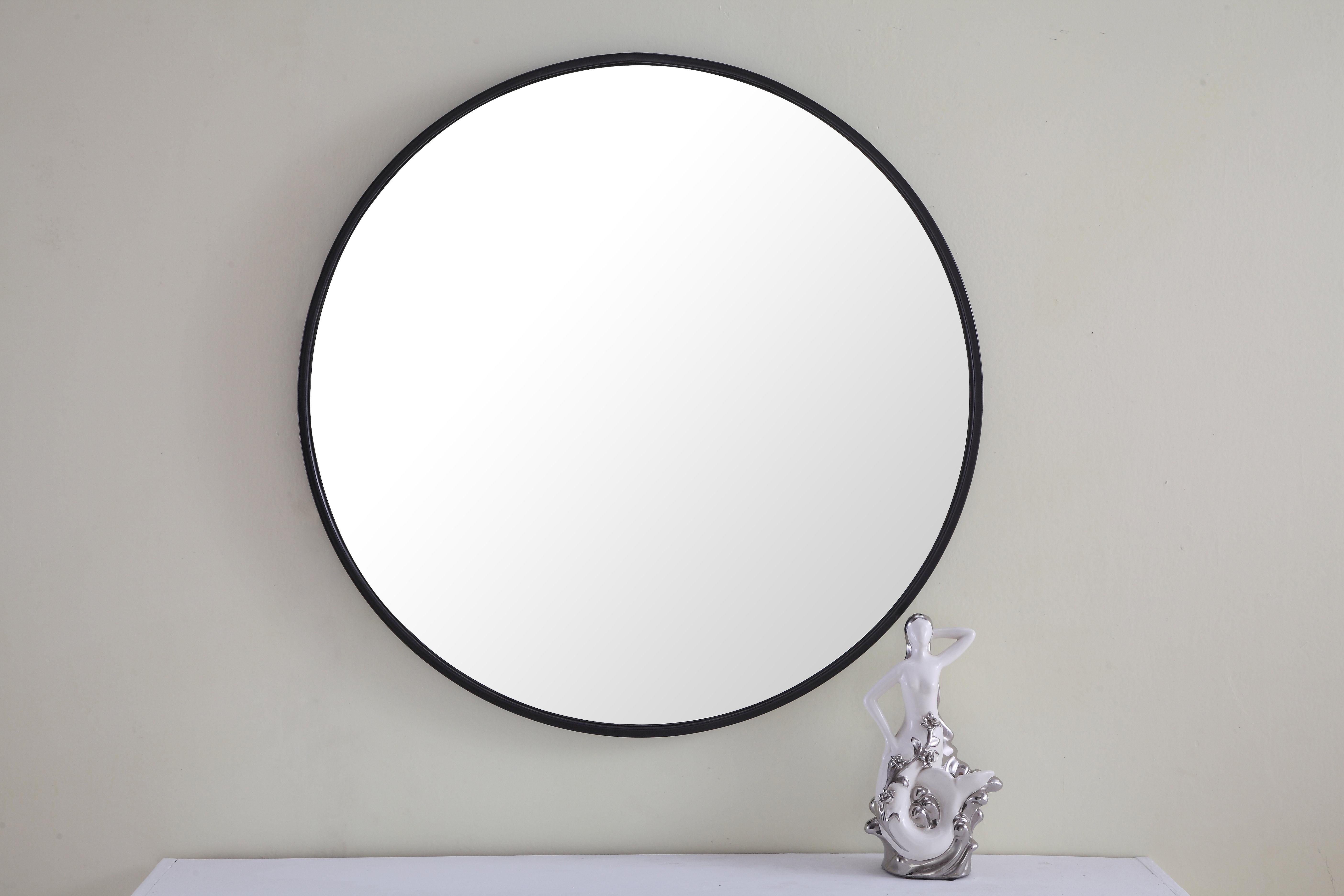 Modern & Contemporary Black Metal Frame Floor Mirror   Allmodern Inside Austin Industrial Accent Mirrors (Image 17 of 30)