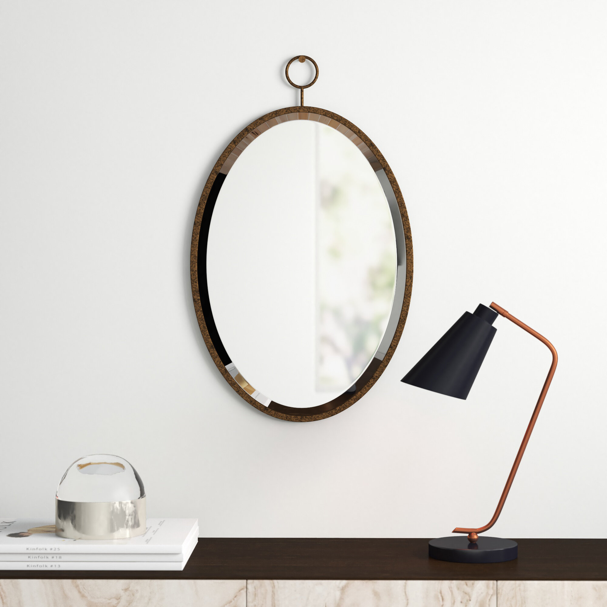 Modern & Contemporary Ceiling Hung Mirror | Allmodern In Derick Accent Mirrors (View 6 of 30)
