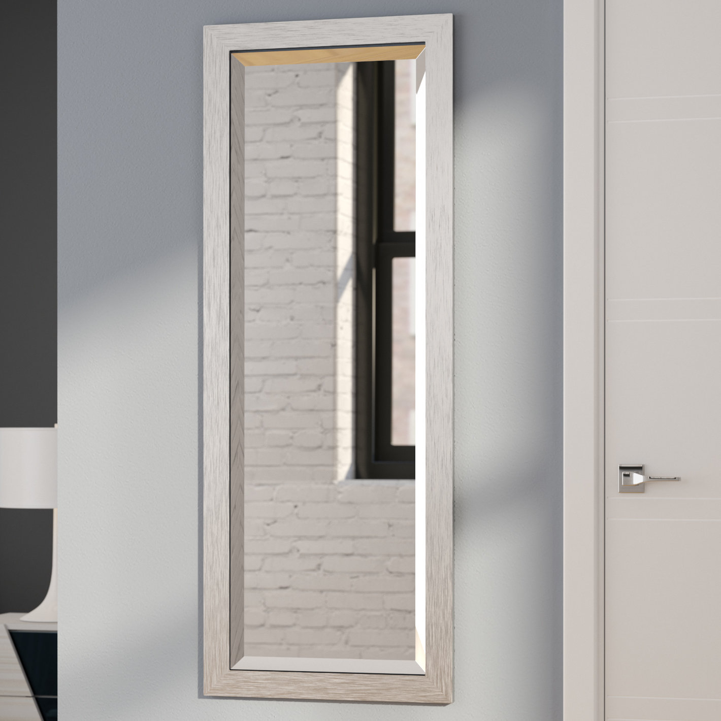 Modern & Contemporary Full Length Beveled Wall Mirror pertaining to Modern & Contemporary Beveled Wall Mirrors (Image 25 of 30)