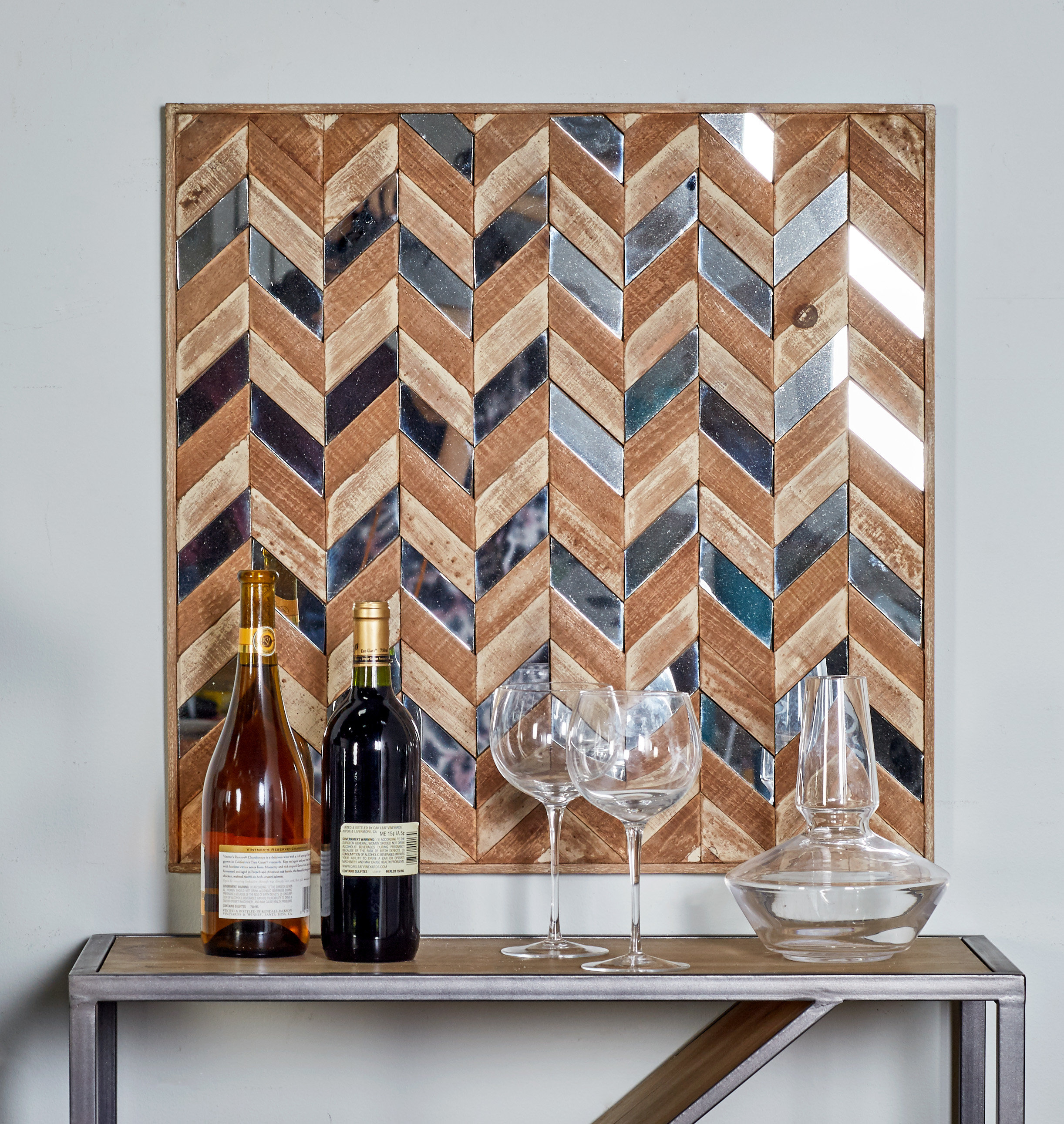 Modern & Contemporary Geometric Mirror | Allmodern for Rectangle Ornate Geometric Wall Mirrors (Image 17 of 30)