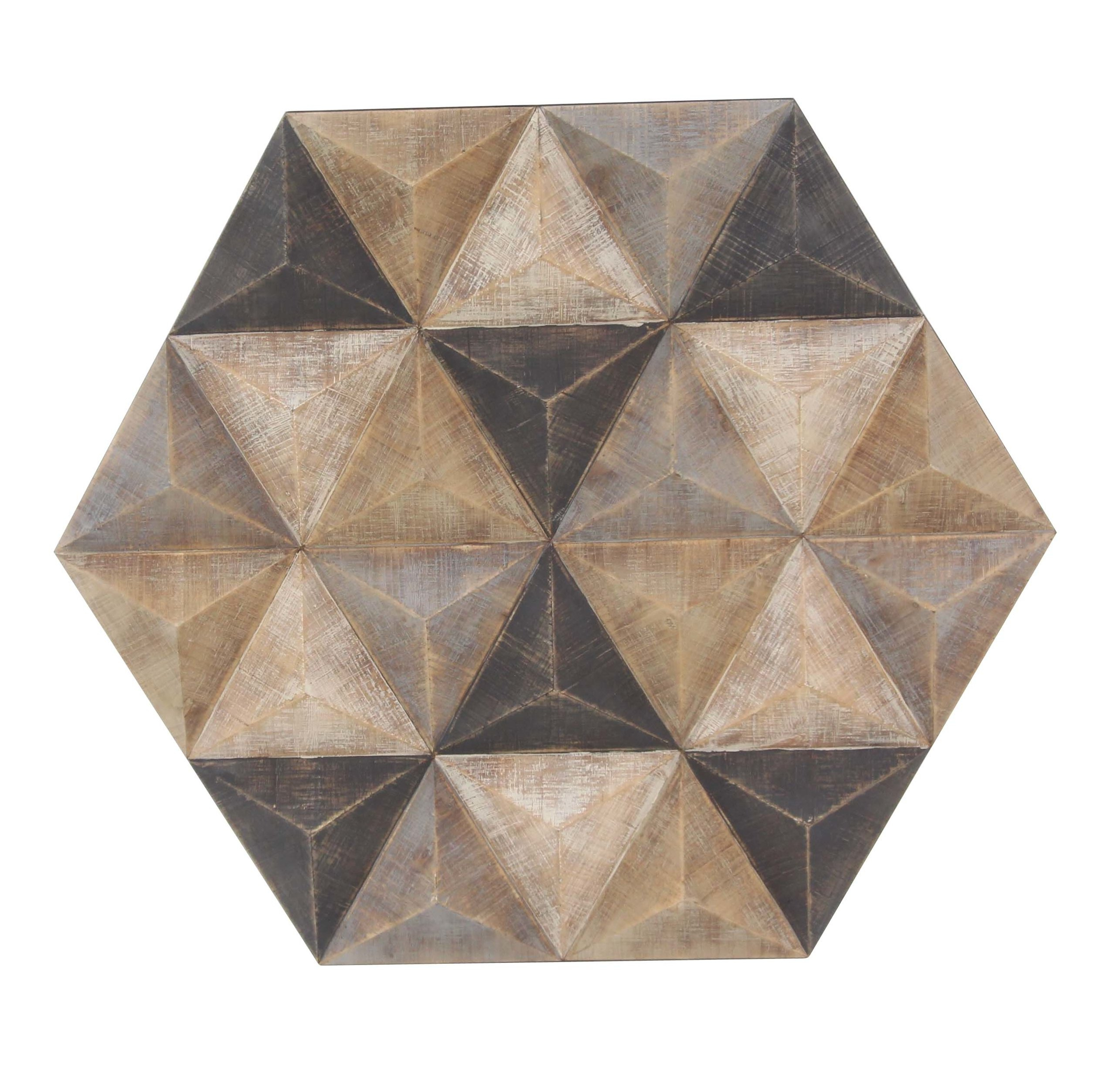 Modern & Contemporary Hexagon Wall Decor | Allmodern Intended For Brown Metal Tribal Arrow Wall Decor (View 18 of 30)