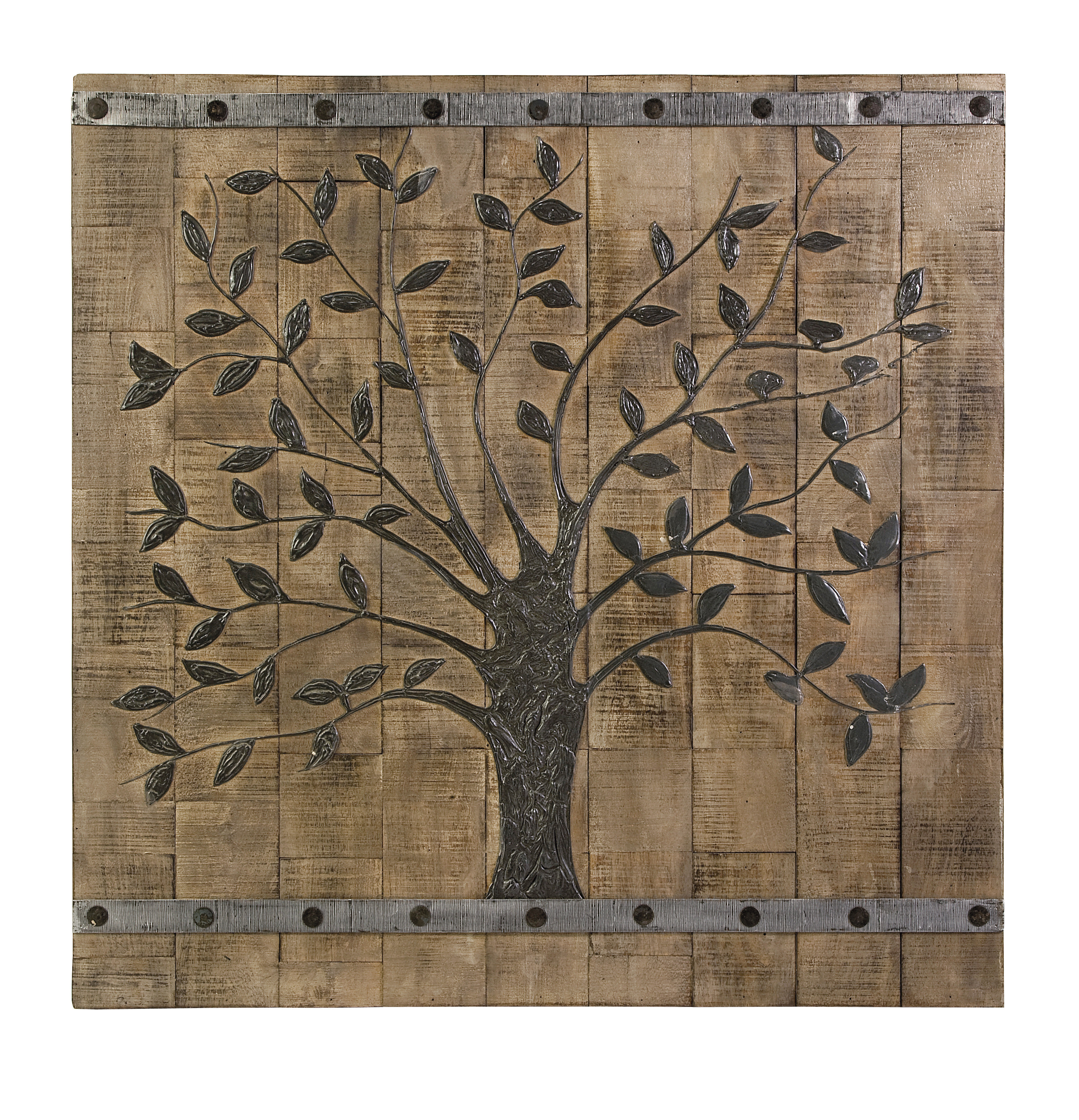 Modern & Contemporary Reclaimed Wood Wall Art | Allmodern Throughout Brown Metal Tribal Arrow Wall Decor (View 15 of 30)