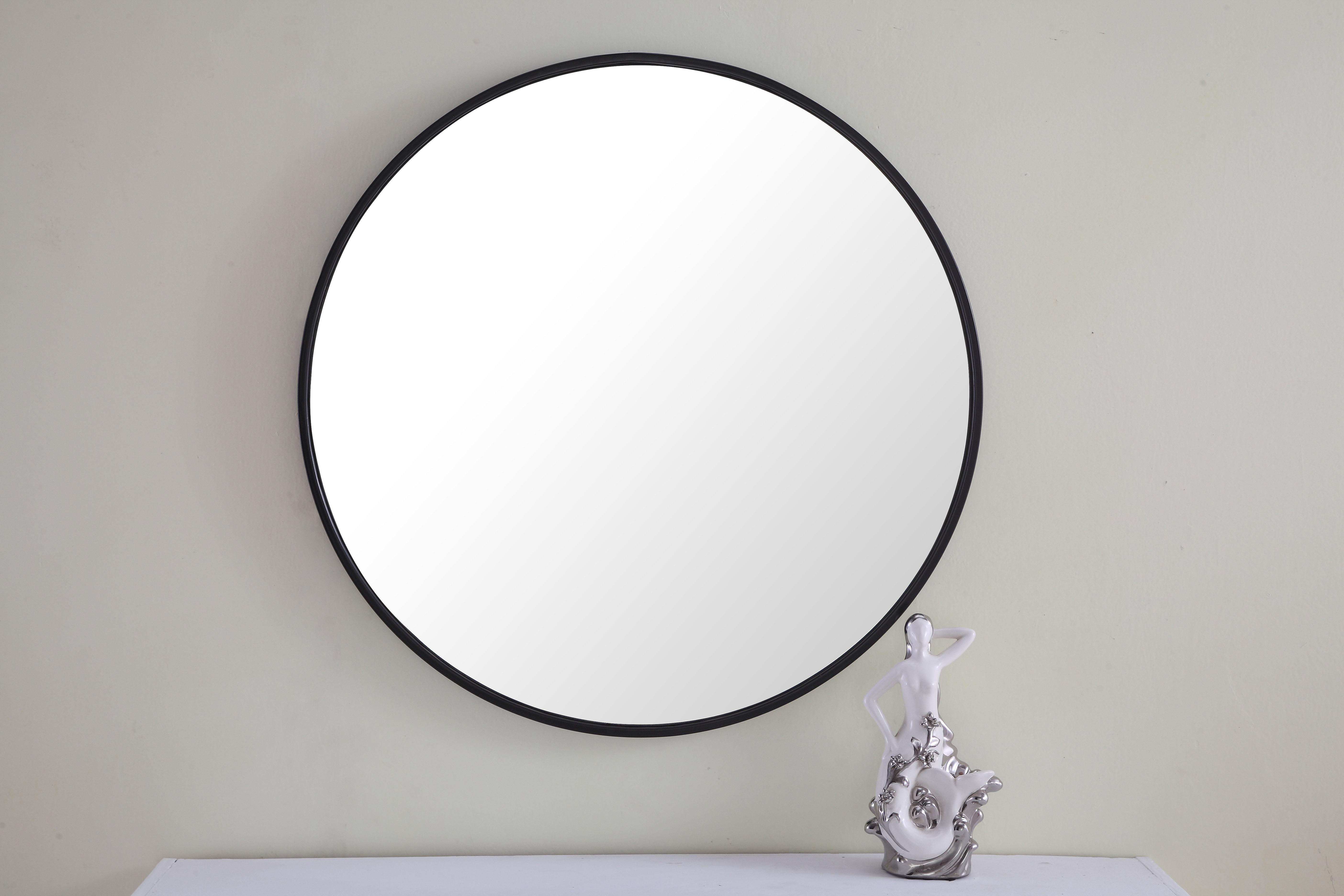 Modern & Contemporary Thin Black Frame Mirror | Allmodern With Derick Accent Mirrors (View 15 of 30)