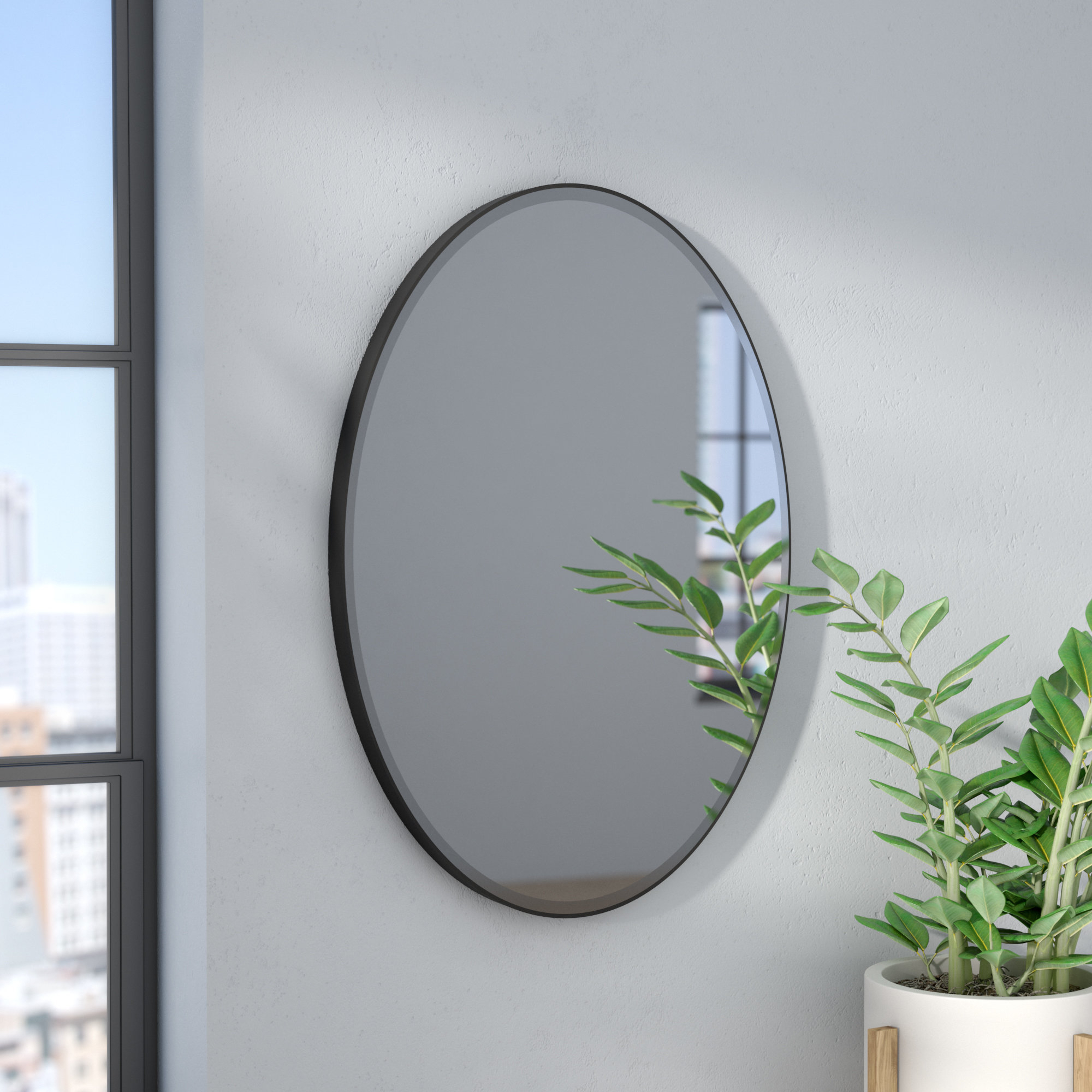 Modern & Contemporary Wall Mirrors You'll Love In 2019 | Wayfair Pertaining To Industrial Modern & Contemporary Wall Mirrors (View 21 of 30)