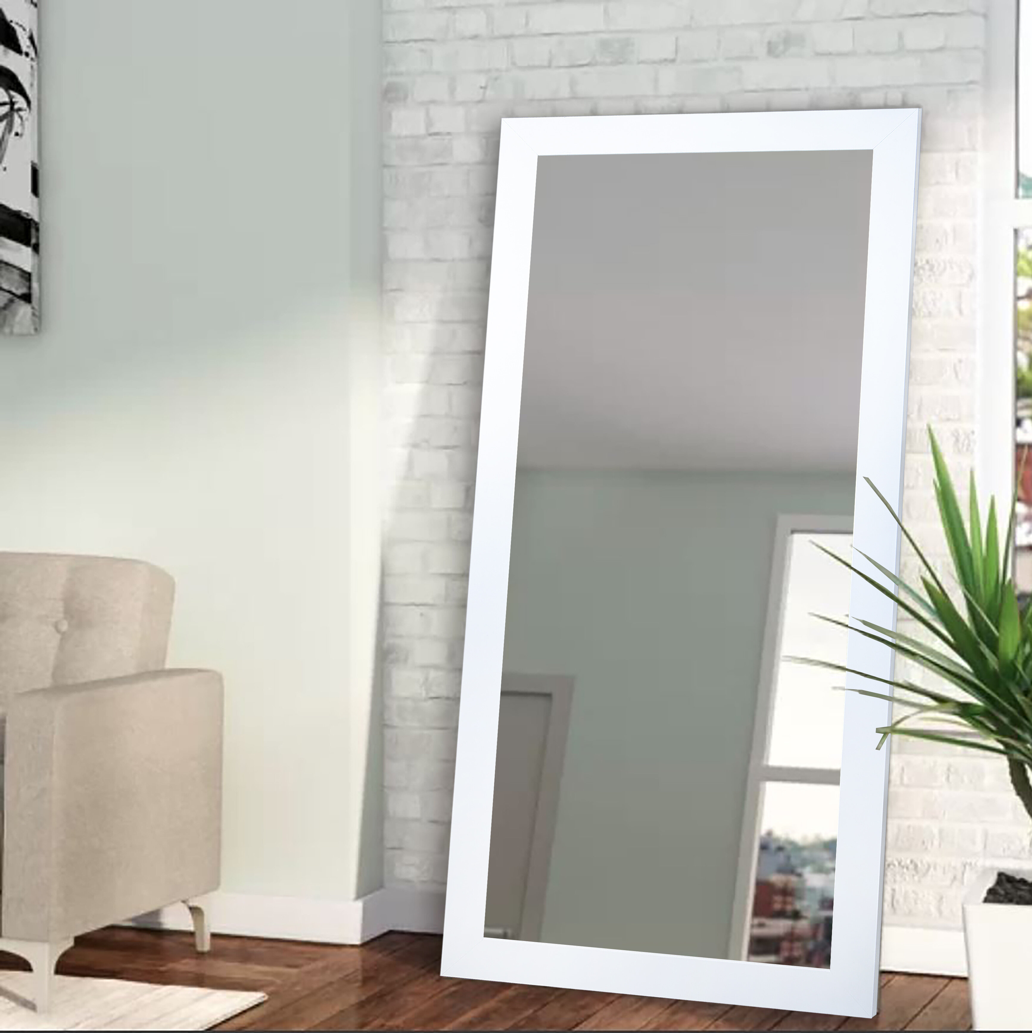 Modern Floor + Full Length Mirrors | Allmodern Within Handcrafted Farmhouse Full Length Mirrors (View 22 of 30)