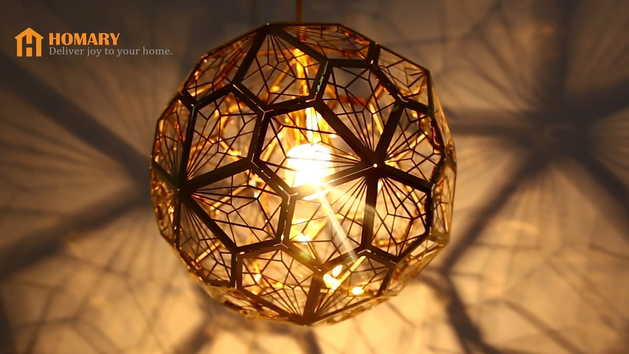 Modern Geometric Hollowed Out Globe 1 Light Pendant Light Review With Regard To 1 Light Geometric Globe Pendants (View 22 of 30)