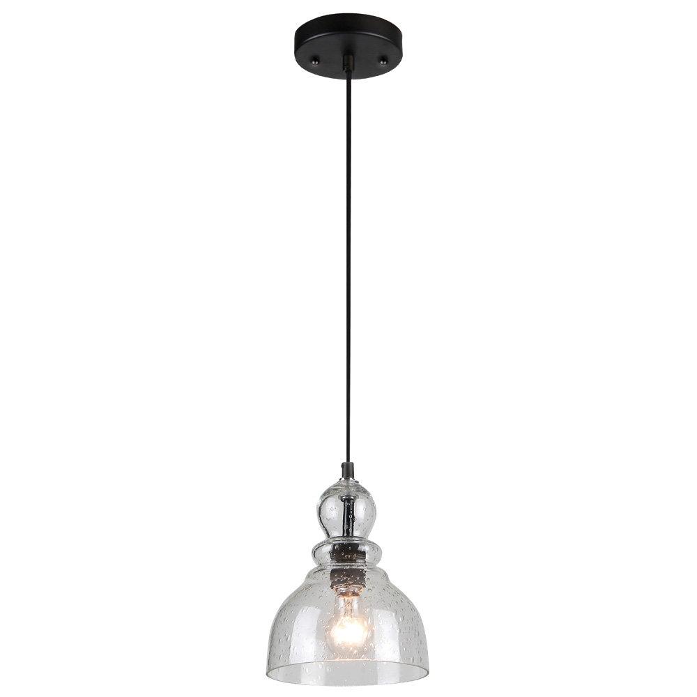 Modern Glass Seeded Pendant Lighting | Allmodern Throughout Scruggs 1 Light Geometric Pendants (View 14 of 30)