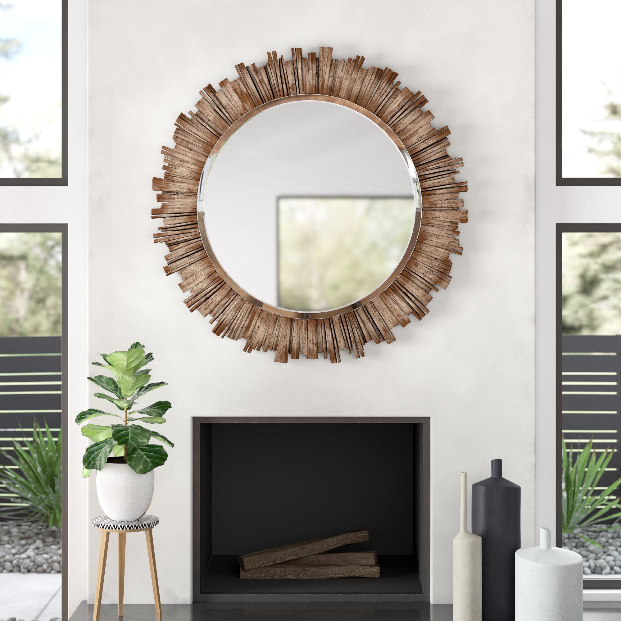 Modern Horizontal And Vertical Sunburst Wall Mirrors | Allmodern With Estrela Modern Sunburst Metal Wall Mirrors (View 12 of 30)