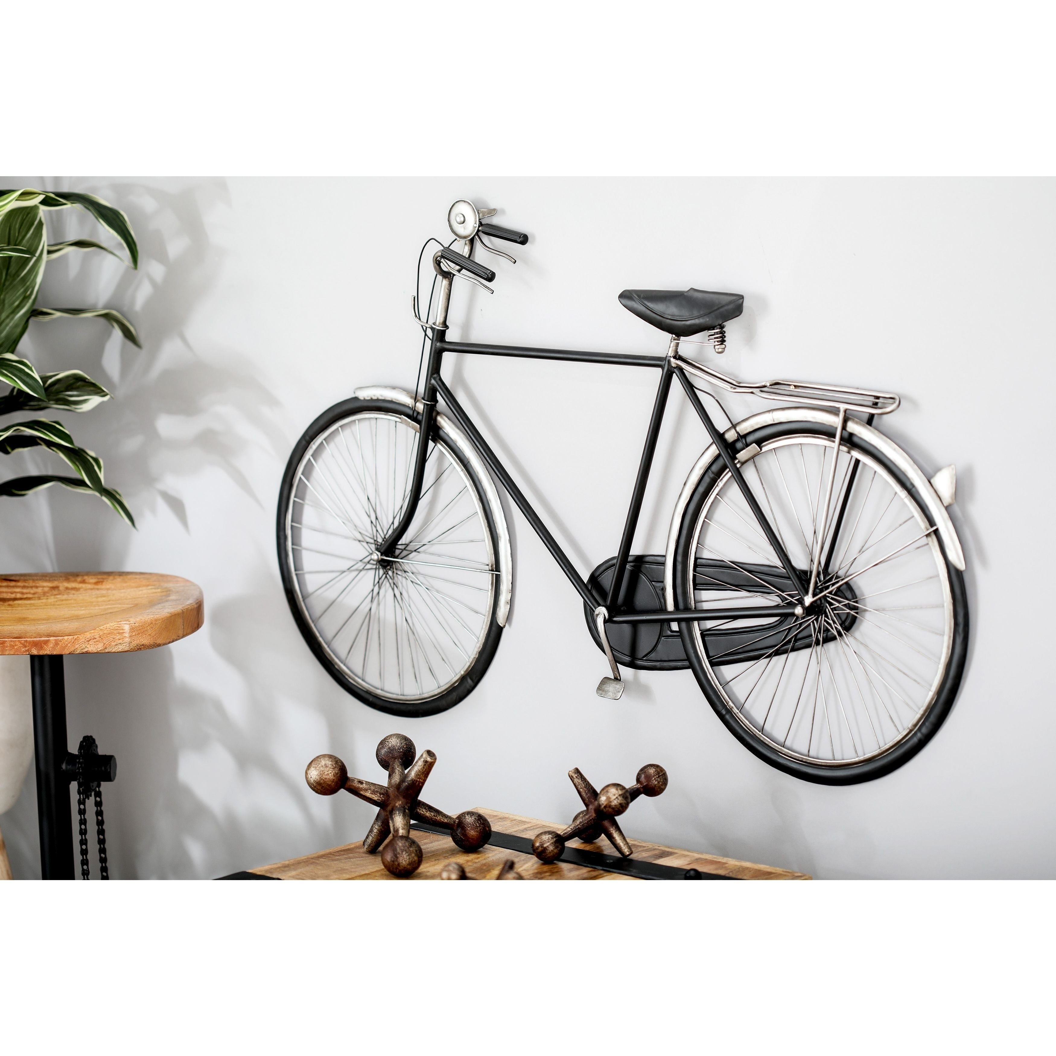 Modern Iron Black Bicycle Wall Decor With Regard To Bike Wall Decor (View 6 of 30)