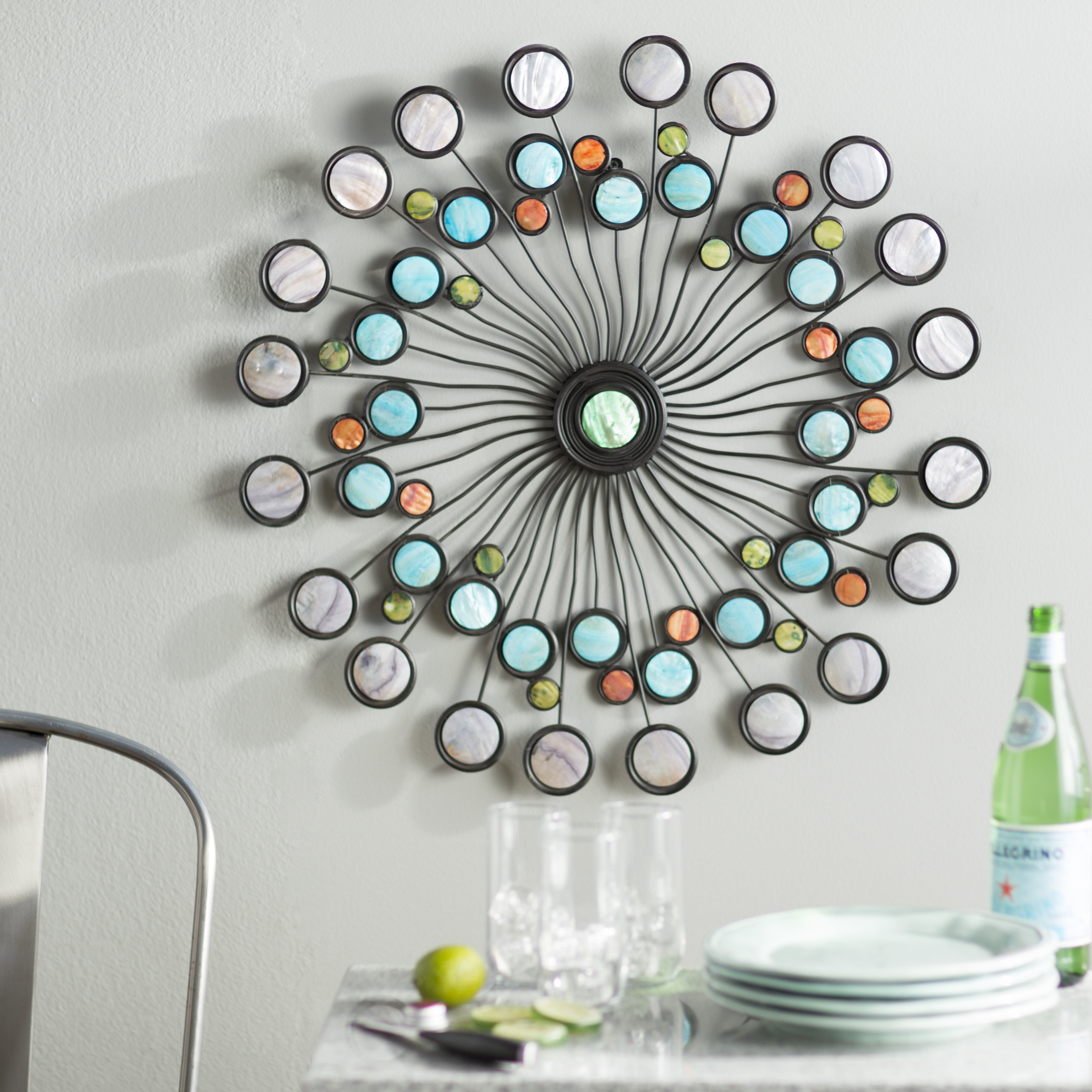 Modern Metal Wall Décor Inside Contemporary Abstract Round Wall Decor (View 19 of 30)
