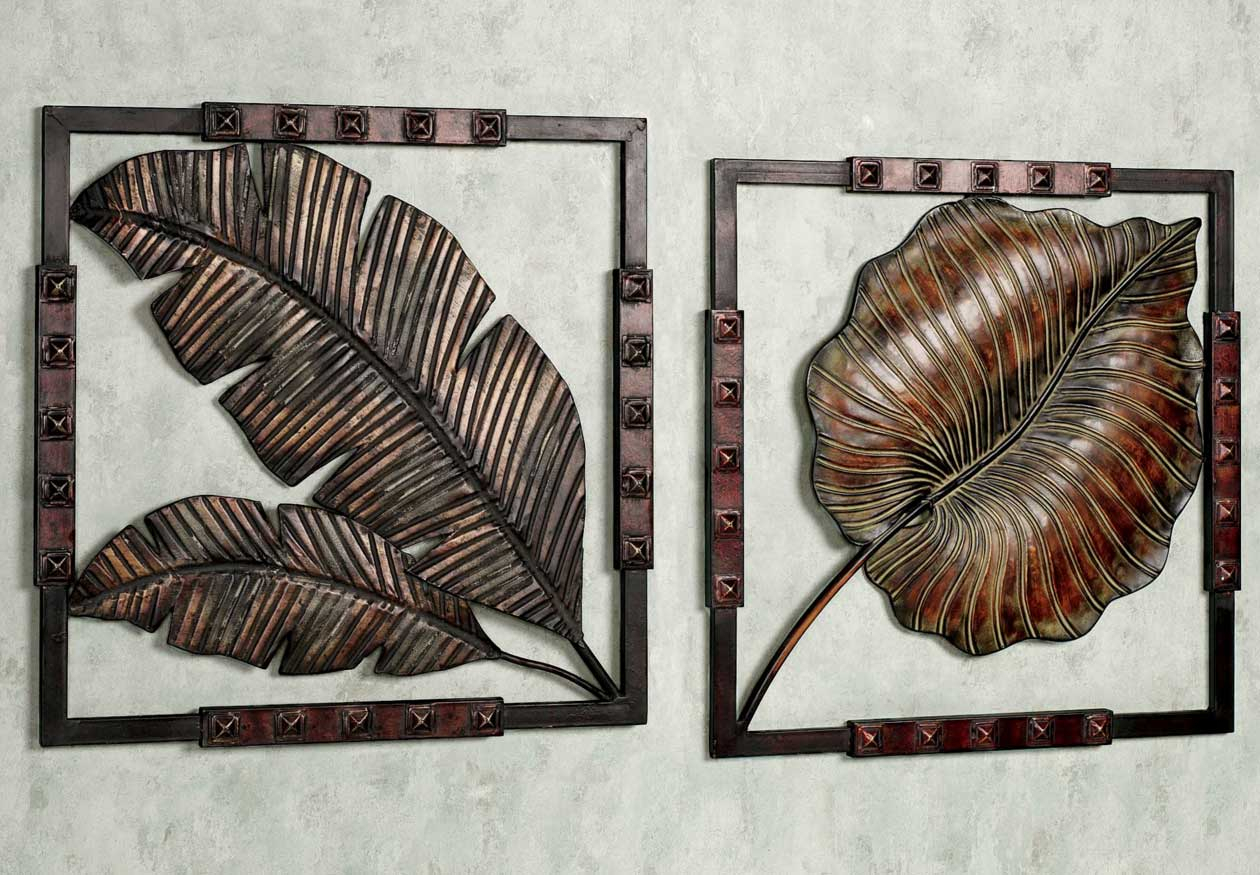 Modern Metal Wall Sculpture Leaf : The Lucky Design - Unique with Leaves Metal Sculpture Wall Decor (Image 26 of 30)