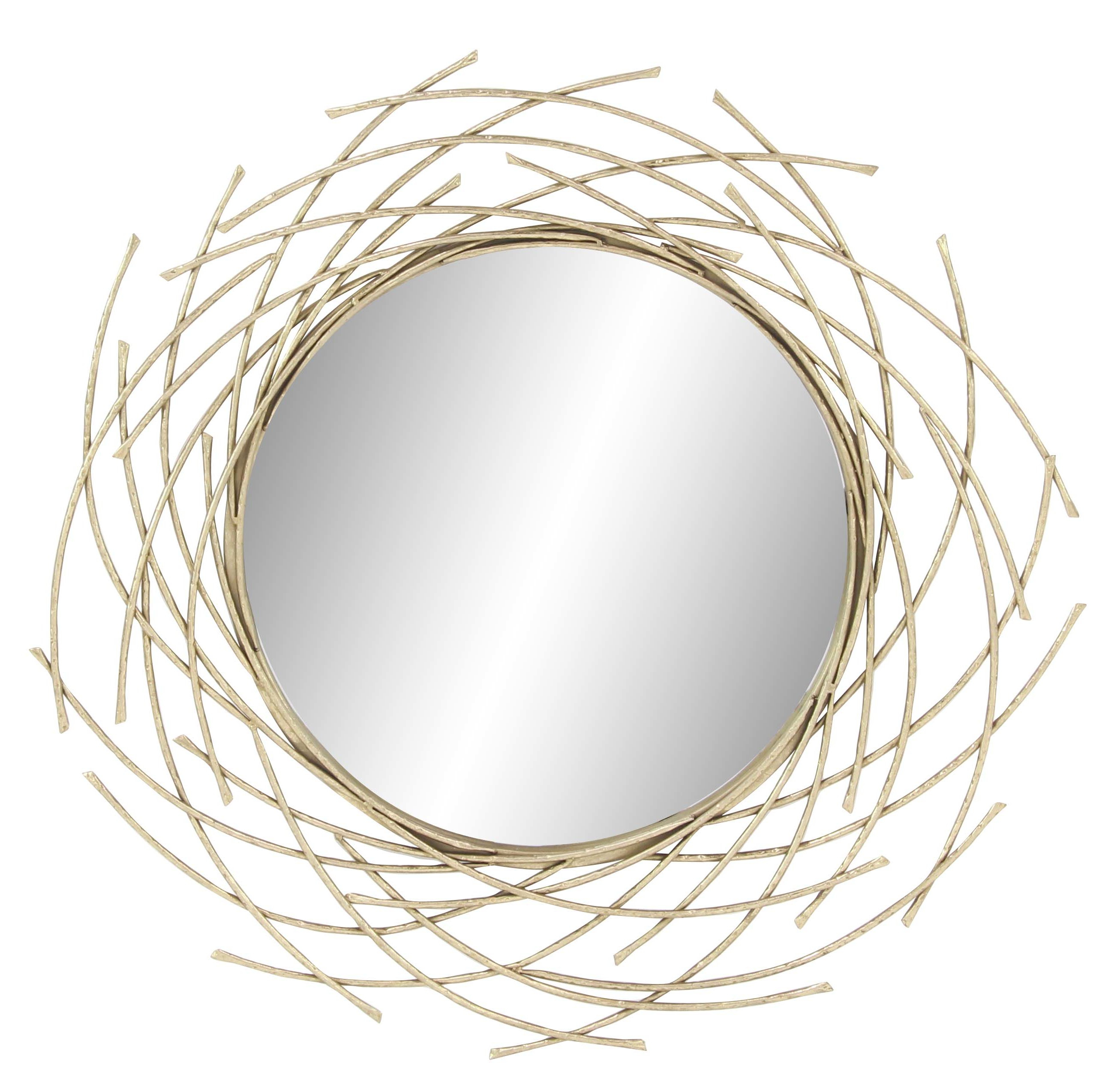 Modern Overlapping Arc Accent Mirror Pertaining To Newtown Accent Mirrors (View 22 of 30)