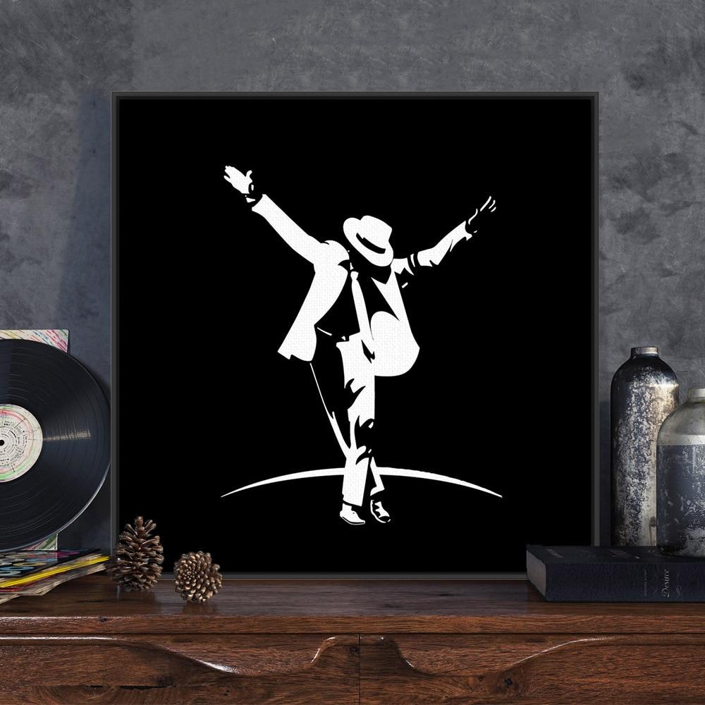 Modern Pop Music Dancer Celebrity Michael Jackson Black Regarding Dance Of Desire Wall Decor (View 5 of 30)