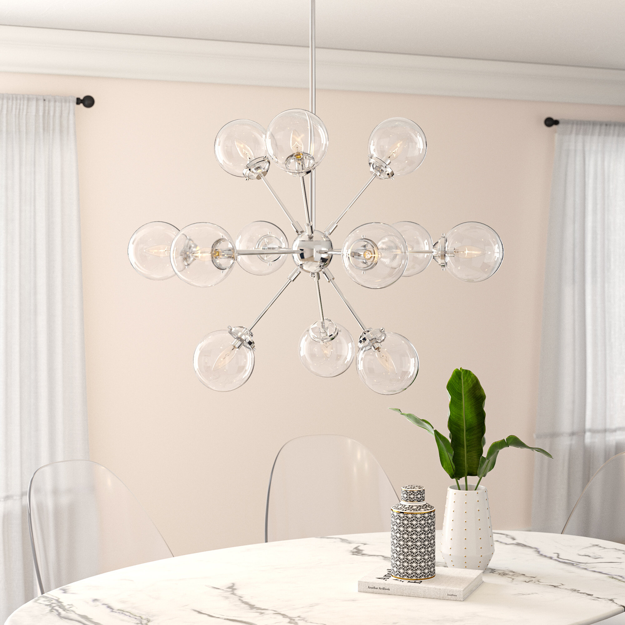 Modern Rustic Interiors Asher 12-Light Sputnik Chandelier pertaining to Asher 12-Light Sputnik Chandeliers (Image 23 of 30)