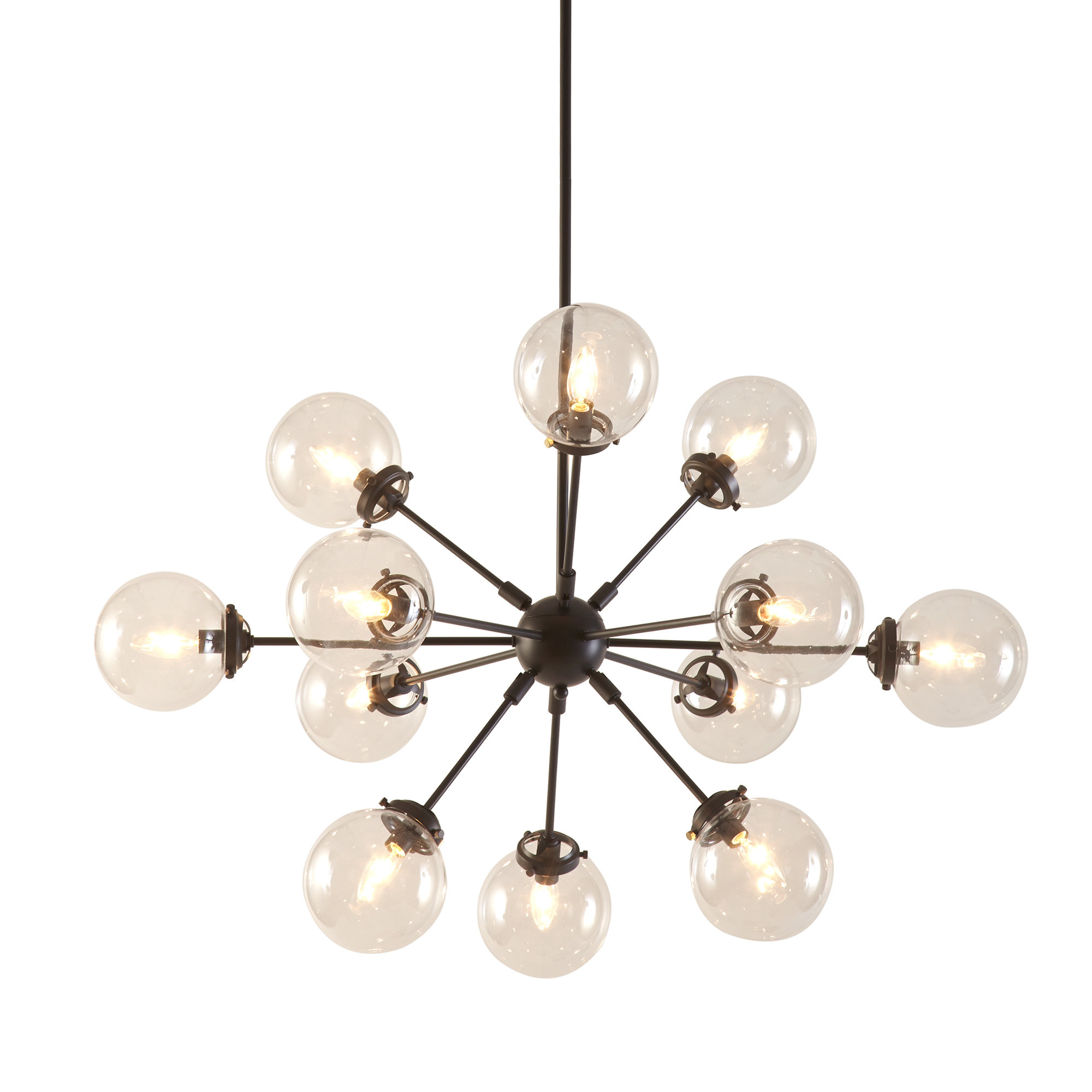 Modern Rustic Interiors Asher 12-Light Sputnik Chandelier pertaining to Asher 12-Light Sputnik Chandeliers (Image 22 of 30)