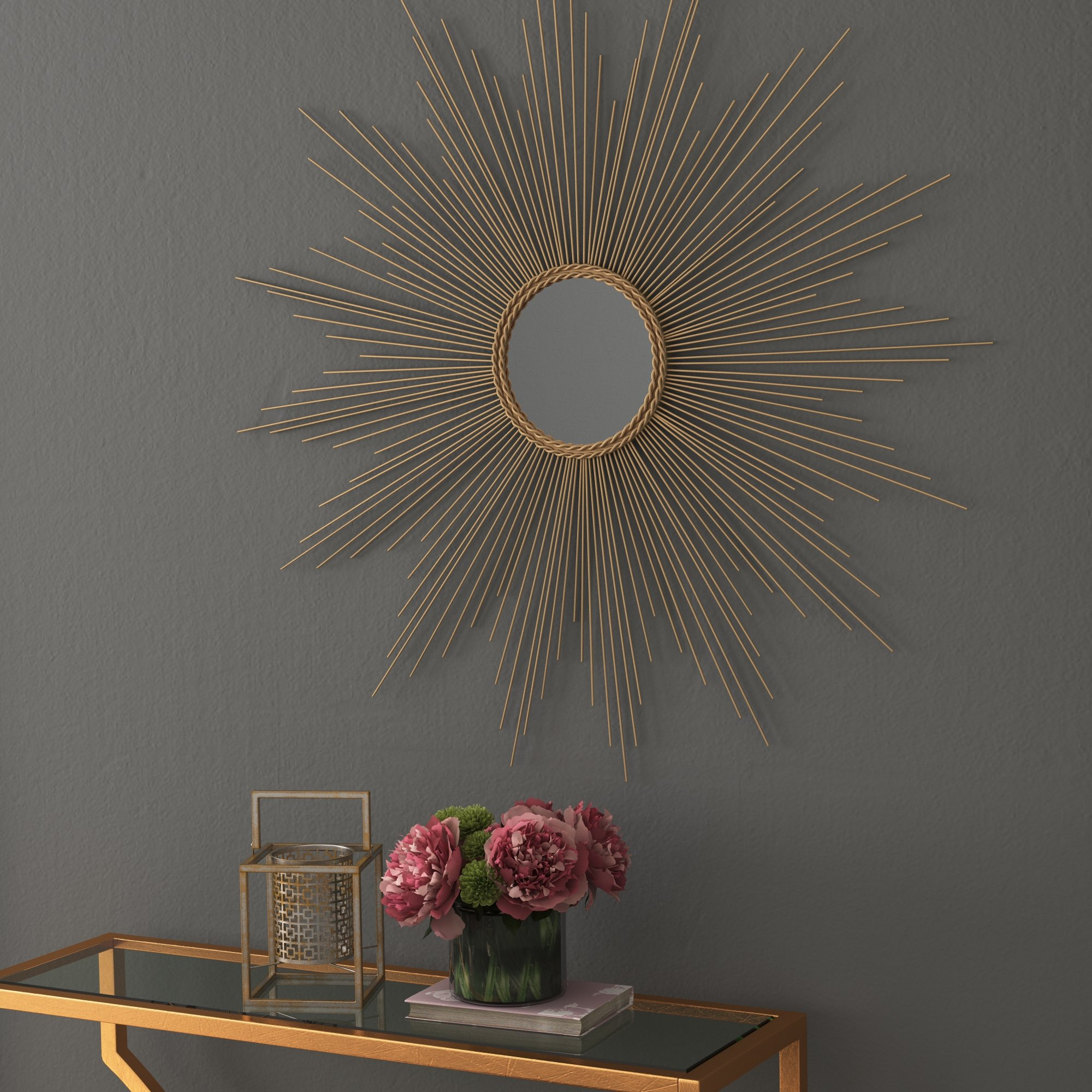 Modern Sunburst Mirrors | Allmodern With Regard To Estrela Modern Sunburst Metal Wall Mirrors (View 16 of 30)
