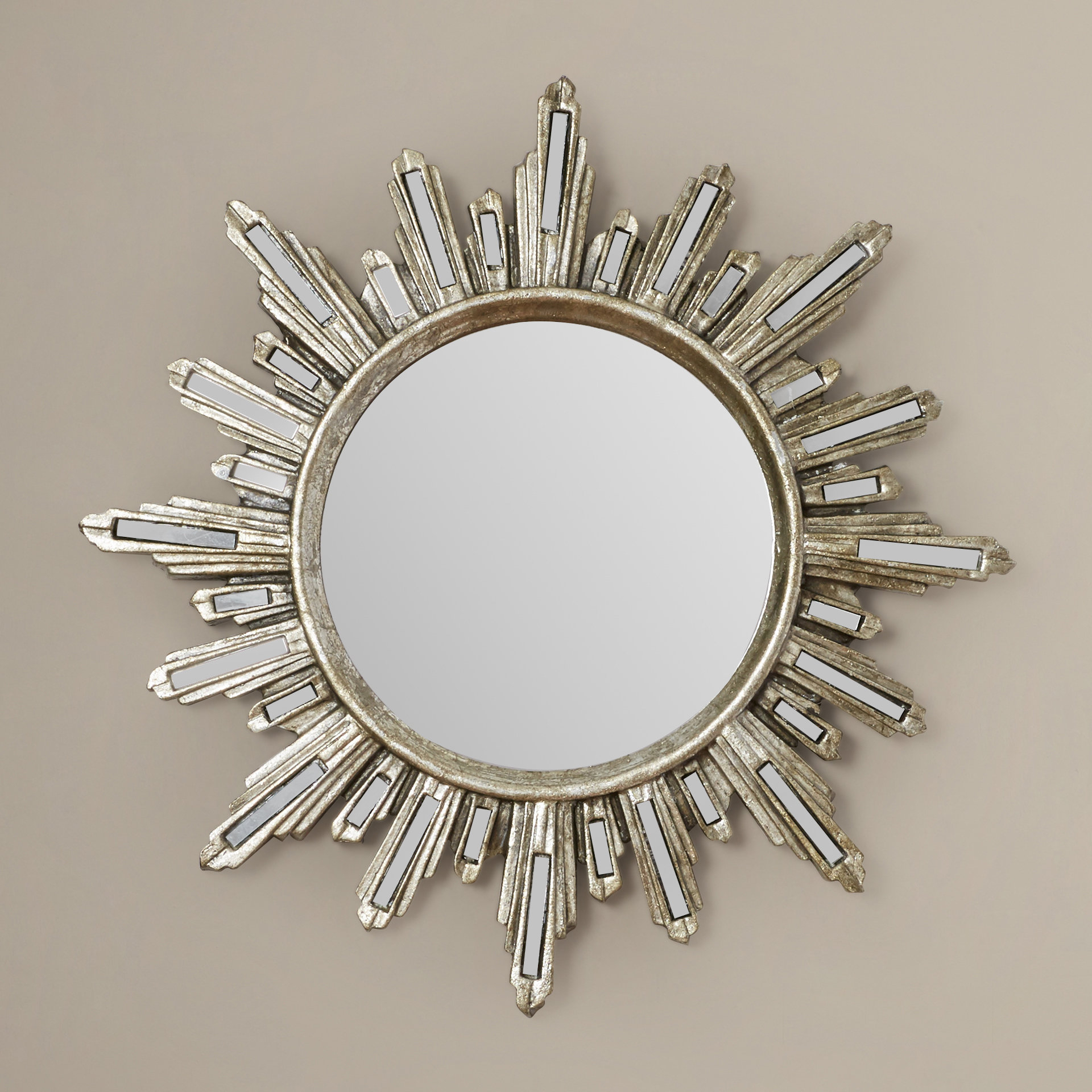 Modern Sunburst Wall Mounted Wall & Accent Mirrors | Allmodern For Newtown Accent Mirrors (View 10 of 30)