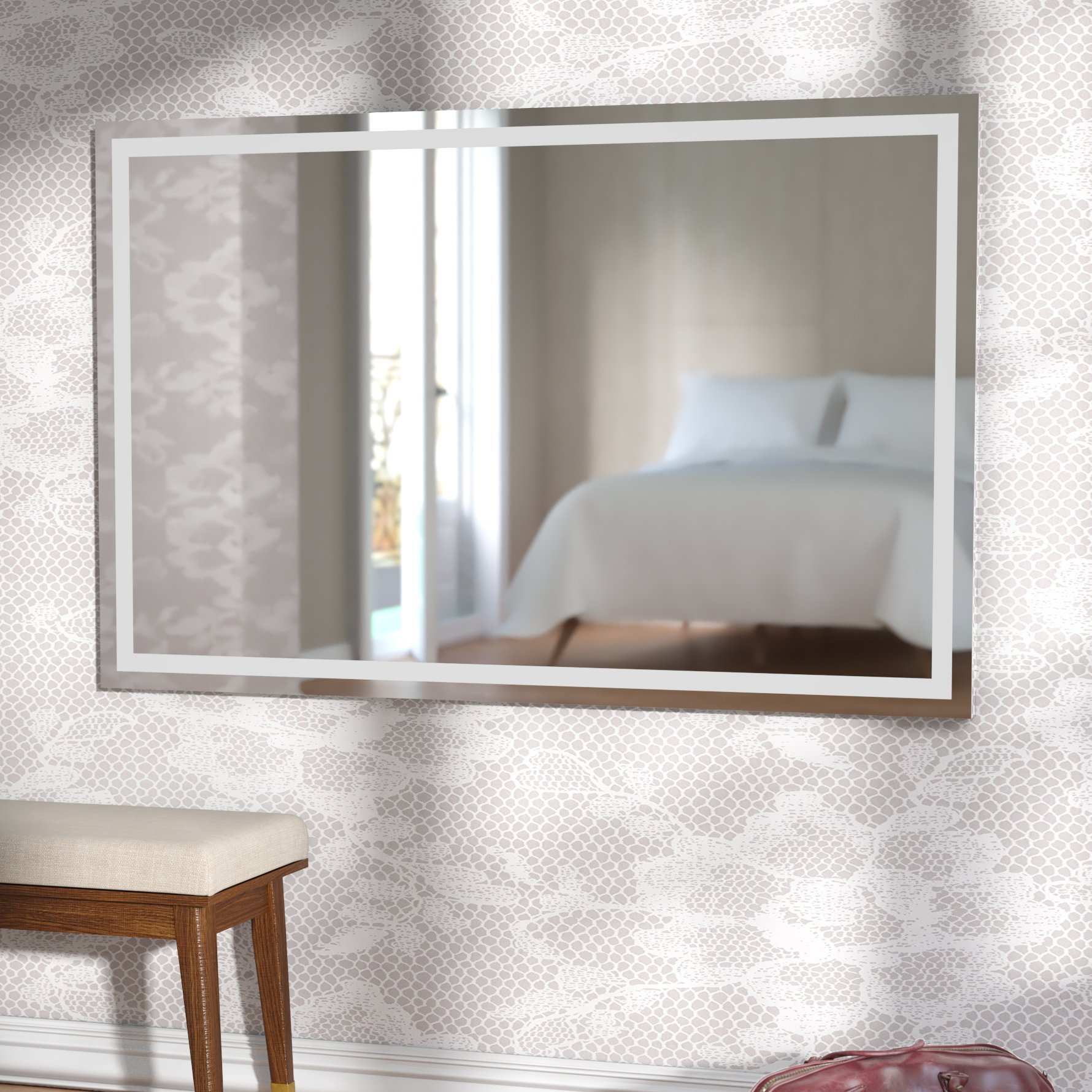 Modern Wade Logan Wall Mirrors | Allmodern Inside Pennsburg Rectangle Wall Mirror By Wade Logan (View 8 of 30)