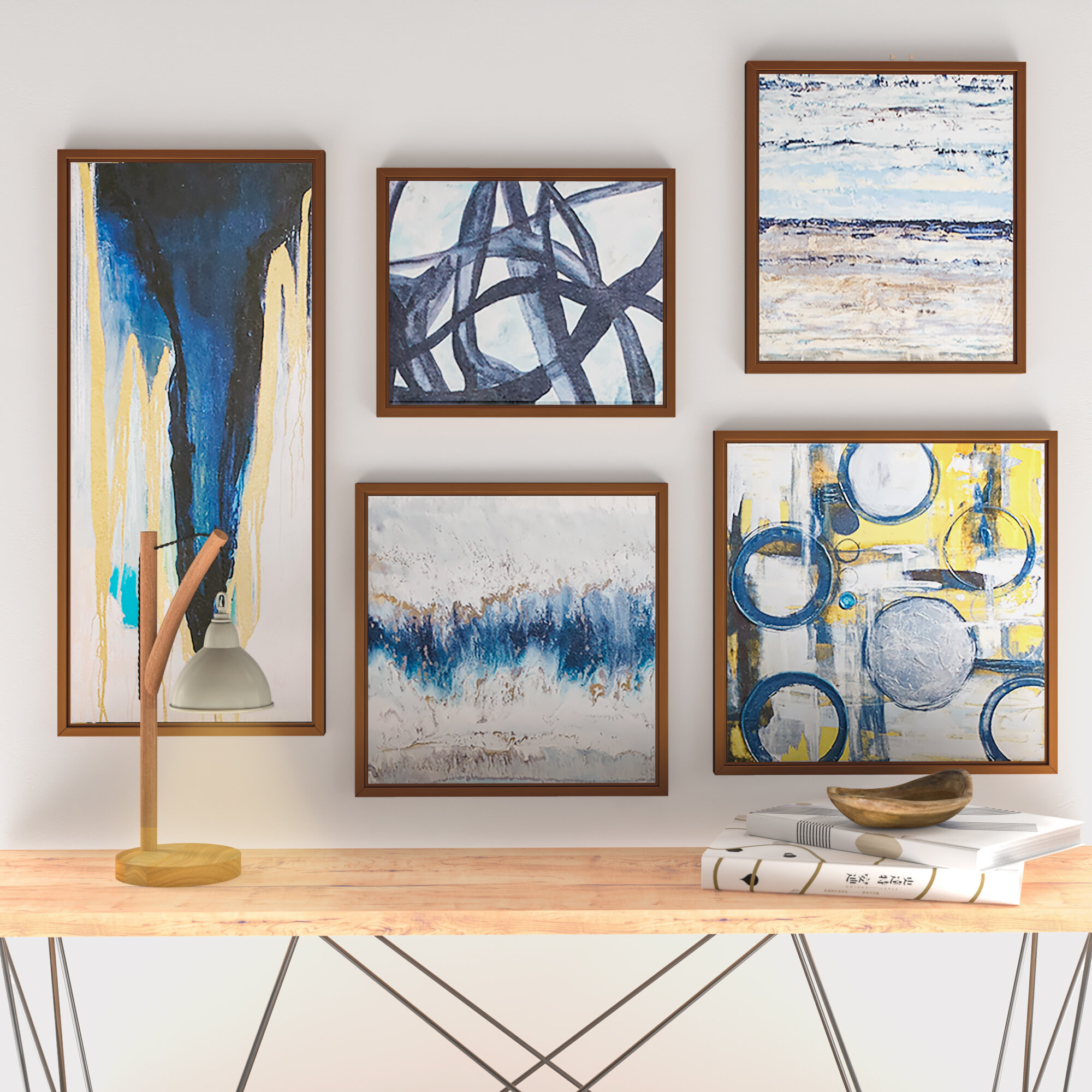 Modern Wall Art Sets | Allmodern Within Panel Wood Wall Decor Sets (set Of 2) (View 10 of 30)