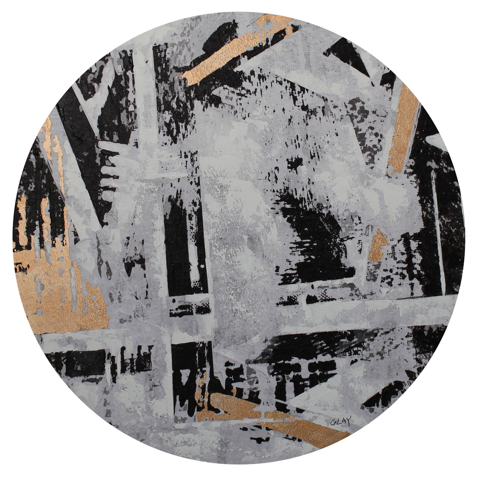 Moes Home Collection Abstract City Round Wall Decor For Contemporary Abstract Round Wall Decor (View 22 of 30)