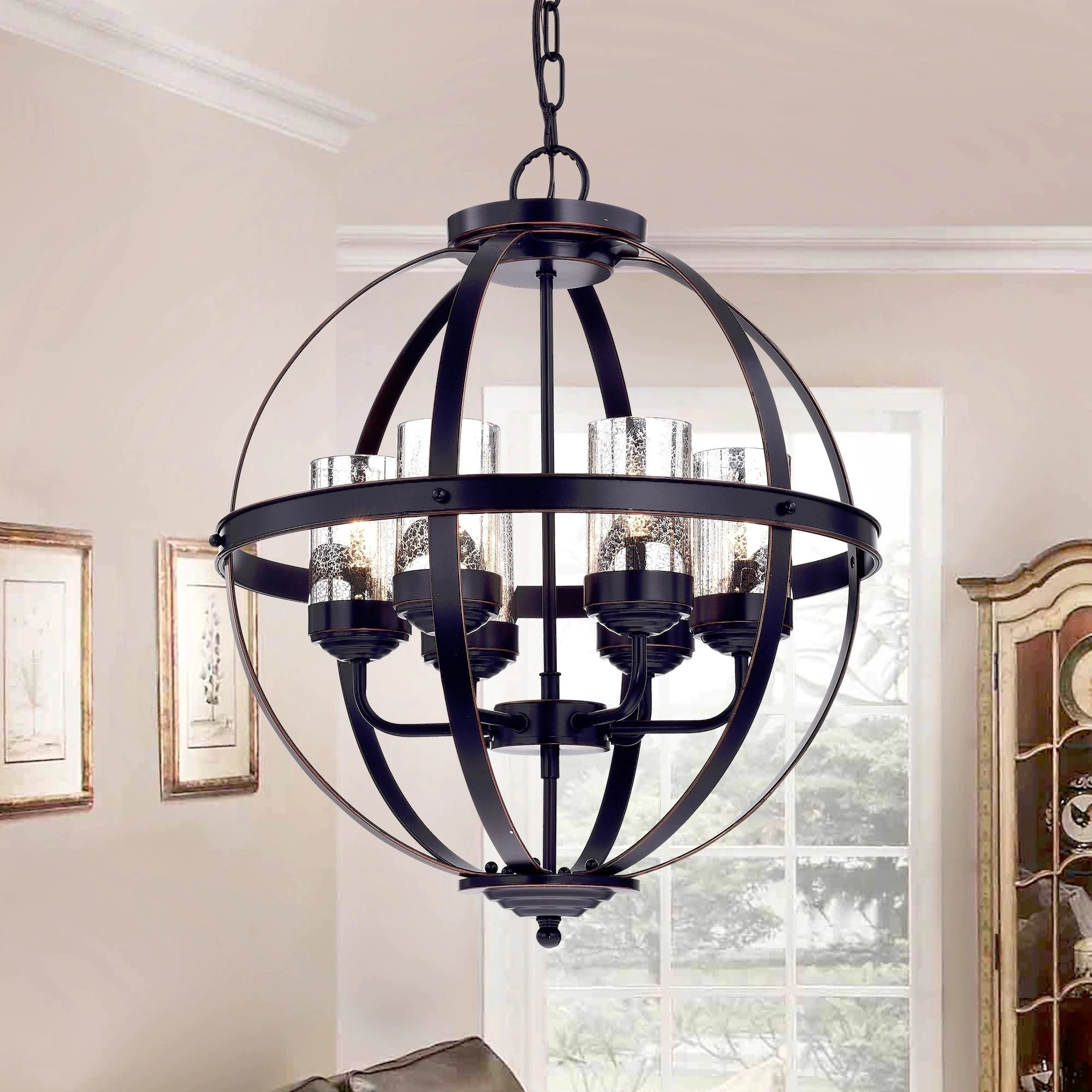 Mojica 6-Light Chandelier with Donna 6-Light Globe Chandeliers (Image 27 of 30)